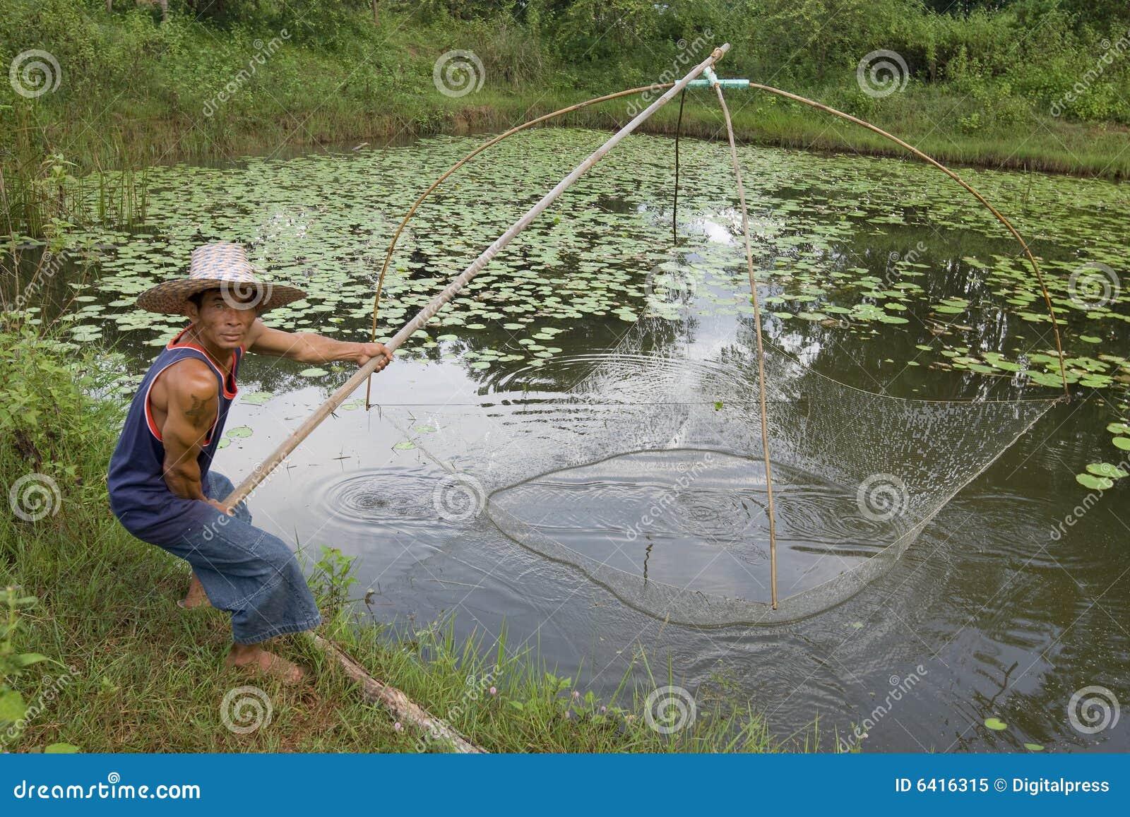 Pescador con el bastón, Asia
