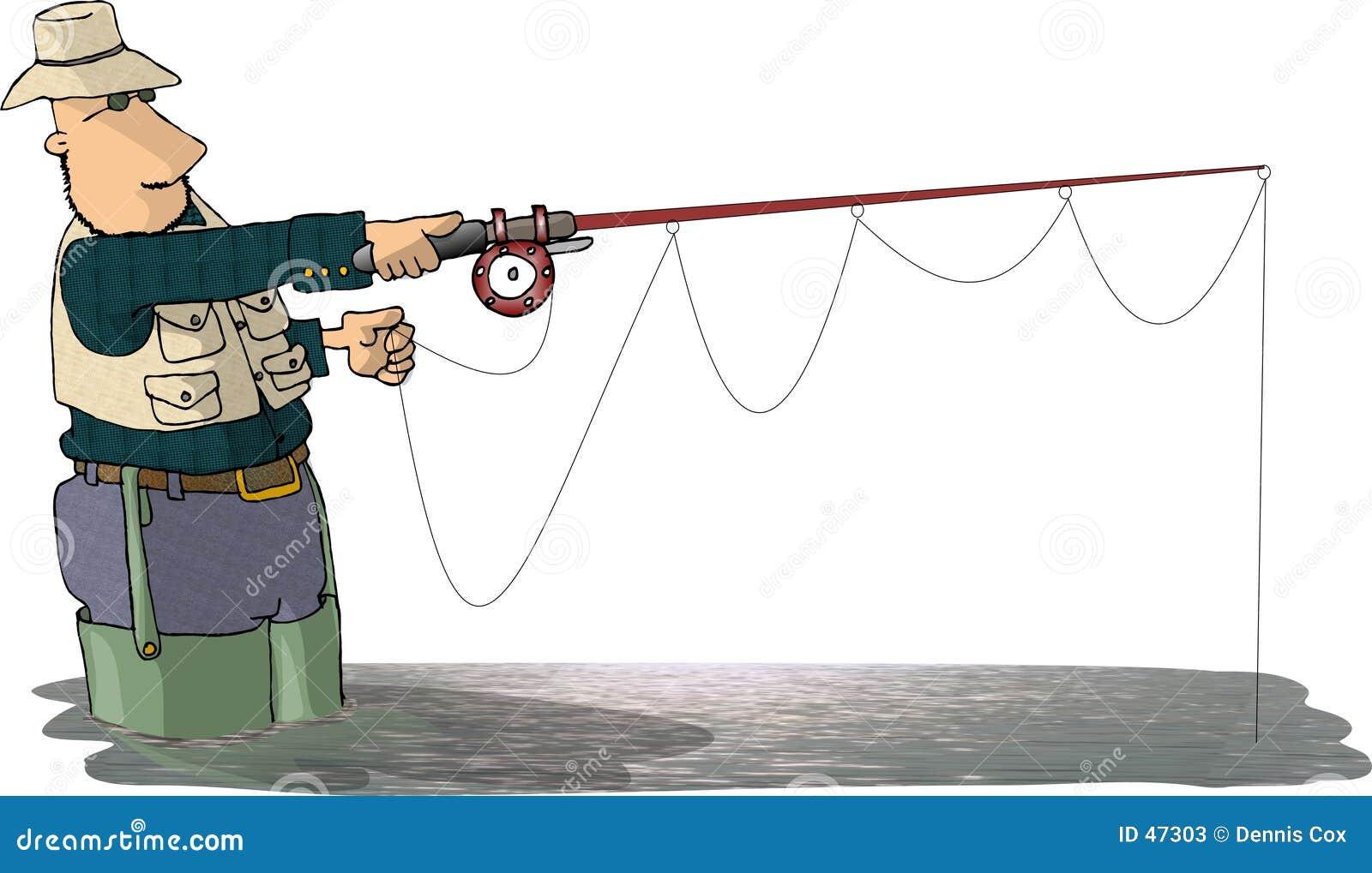 Pescador de la mosca
