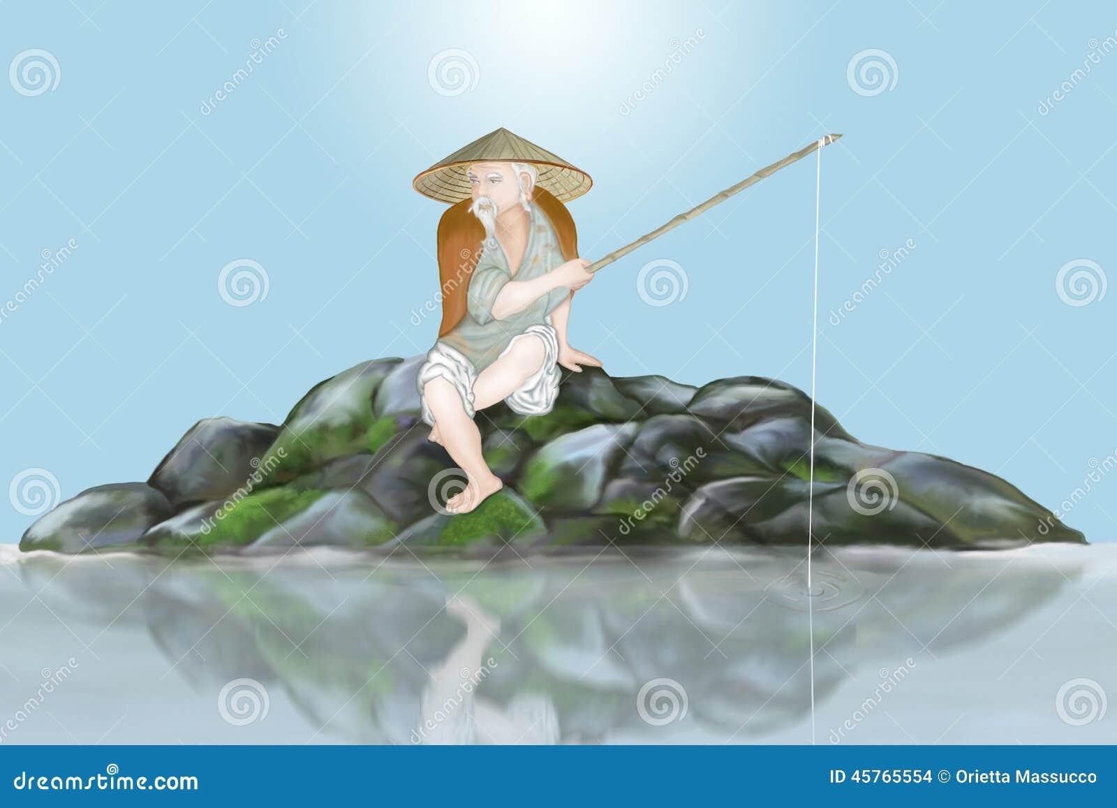 Pescador japonês antigo