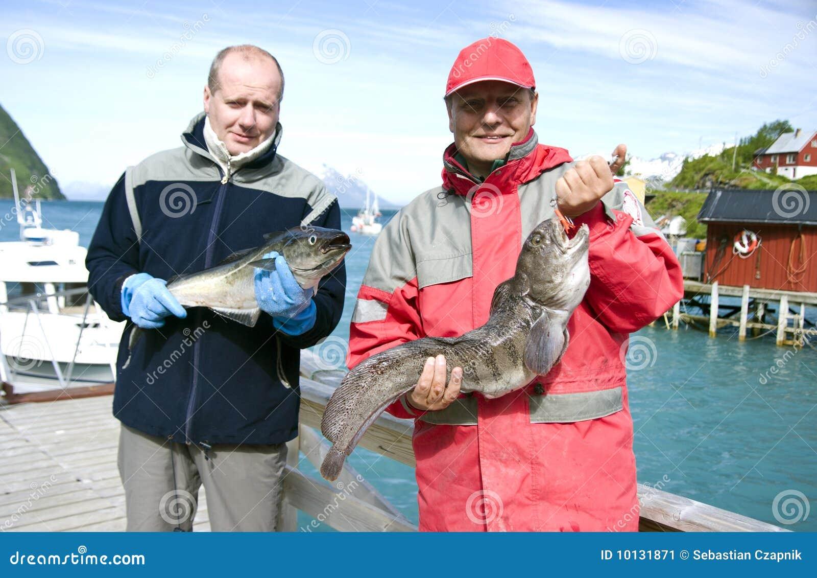 Pescadores y trofeo