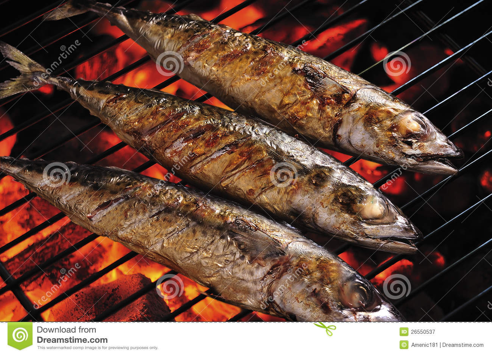 Pescados asados a la parrilla fotograf a de archivo libre - Parrillas para pescado ...