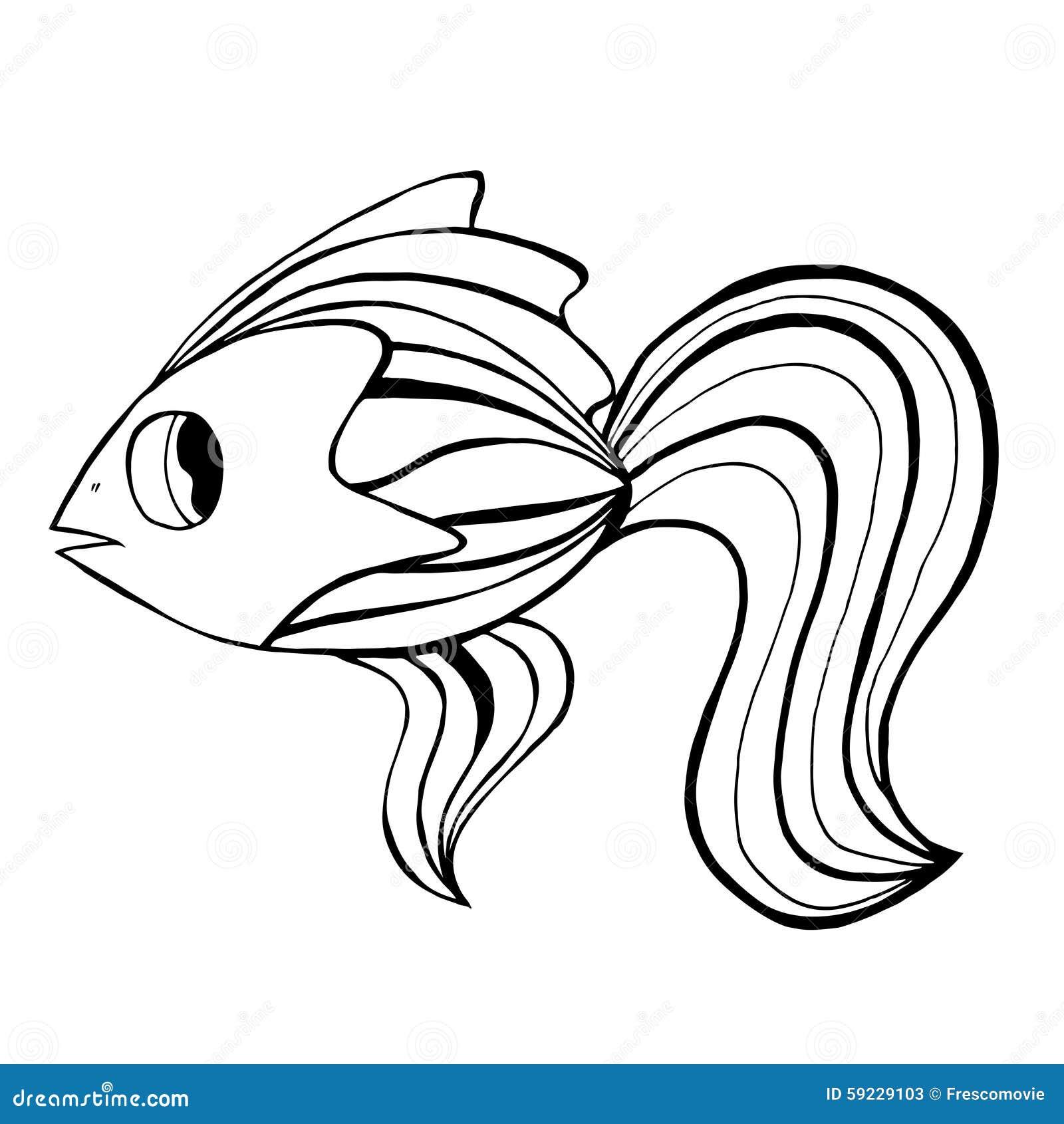 Download Pescados drenados mano ilustración del vector. Ilustración de diseño - 59229103
