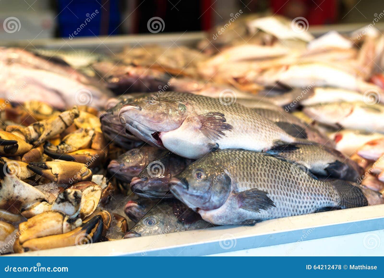 Pescados en el mercado
