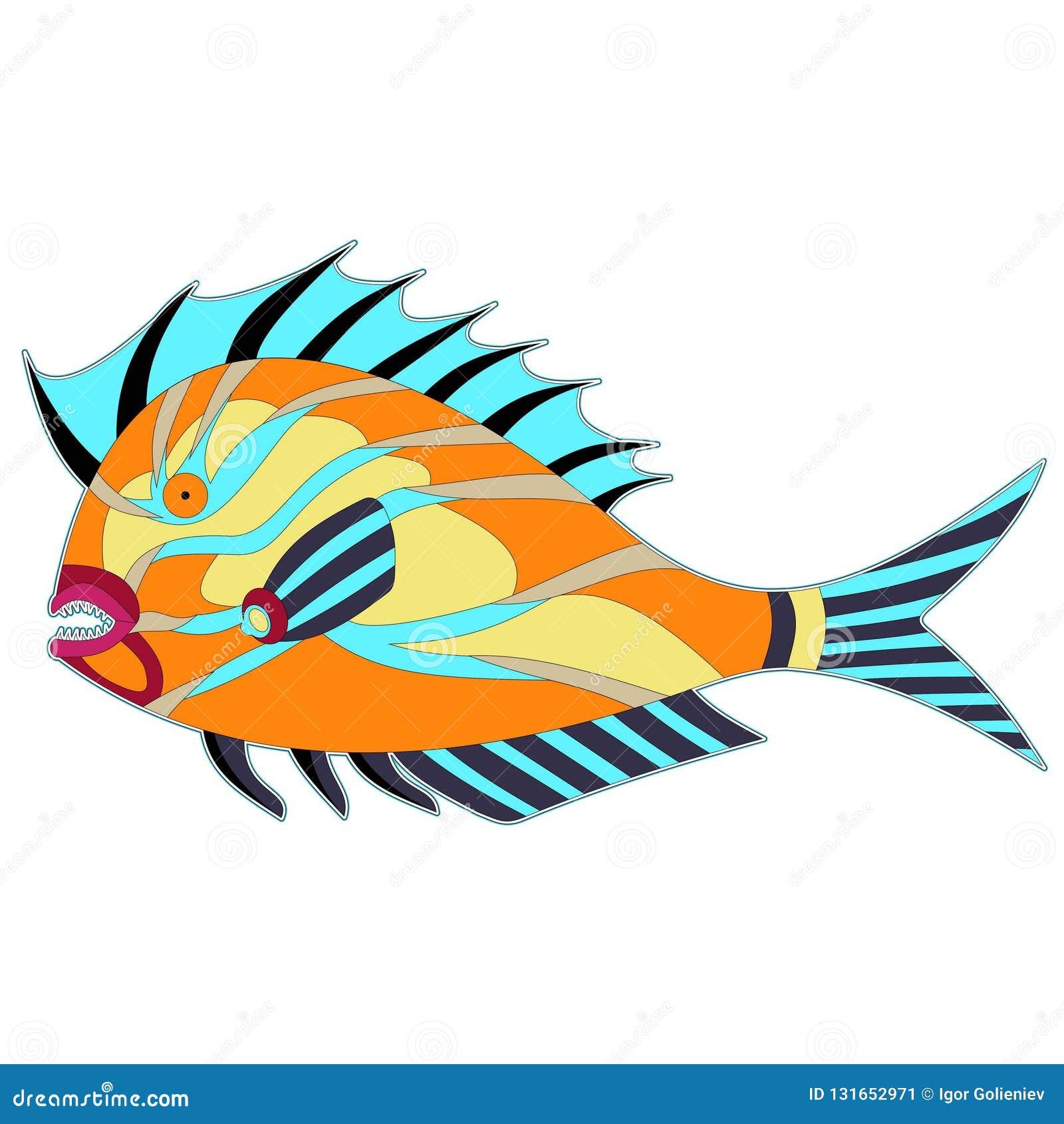 Pescados gordos del monstruo