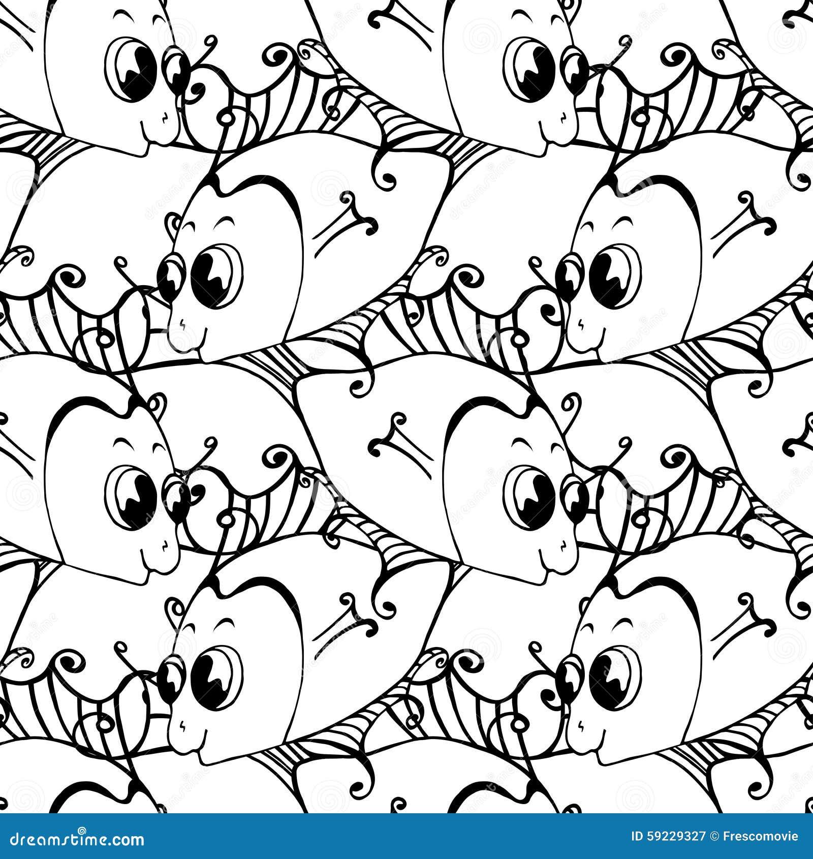 Download Pescados inconsútiles stock de ilustración. Ilustración de diseño - 59229327