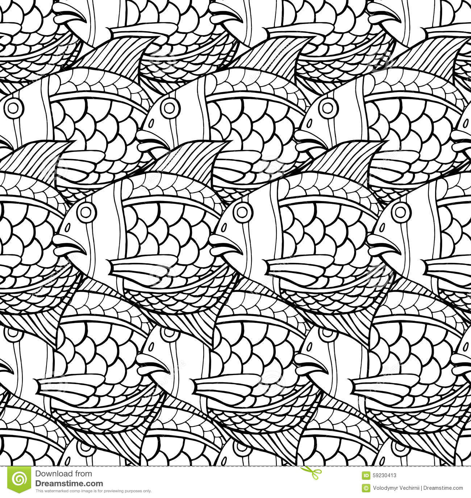 Download Pescados inconsútiles ilustración del vector. Ilustración de diseño - 59230413