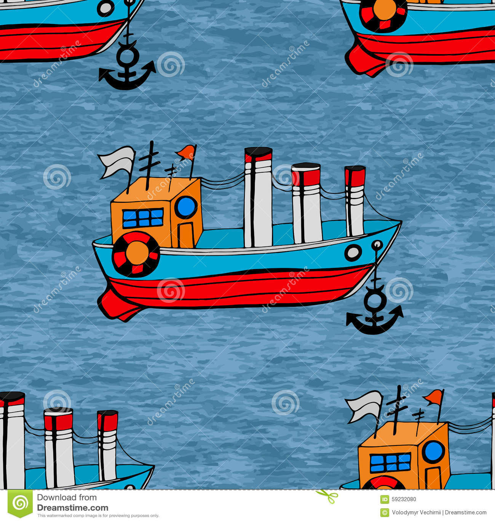 Download Pescados inconsútiles ilustración del vector. Ilustración de pescador - 59232080