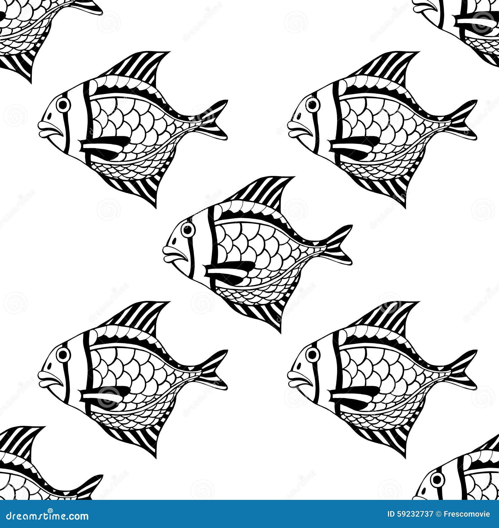 Download Pescados inconsútiles ilustración del vector. Ilustración de fauna - 59232737