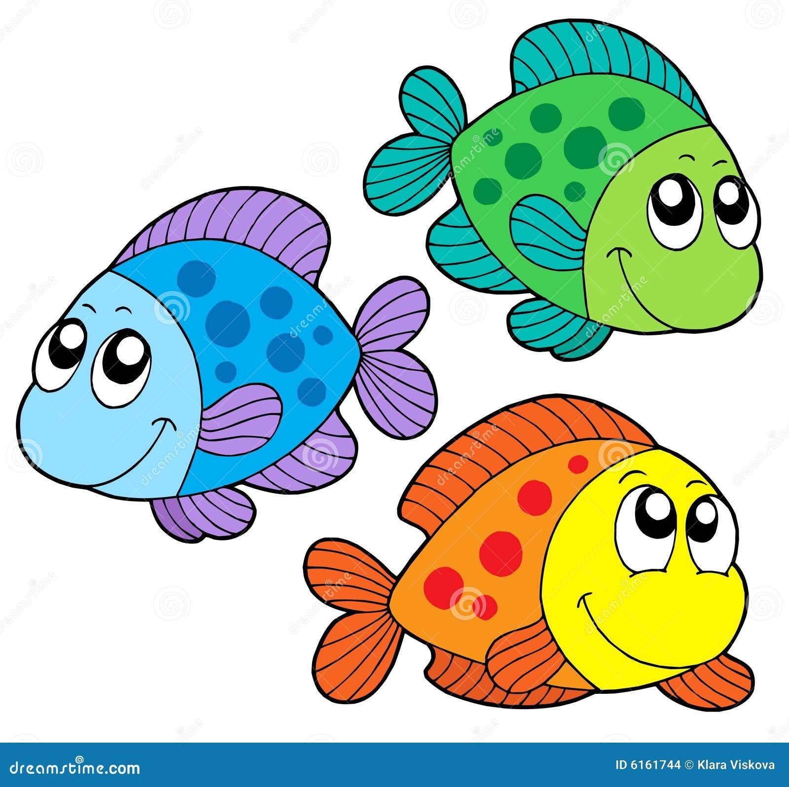 Pescados lindos del color ilustración del vector. Ilustración de ...