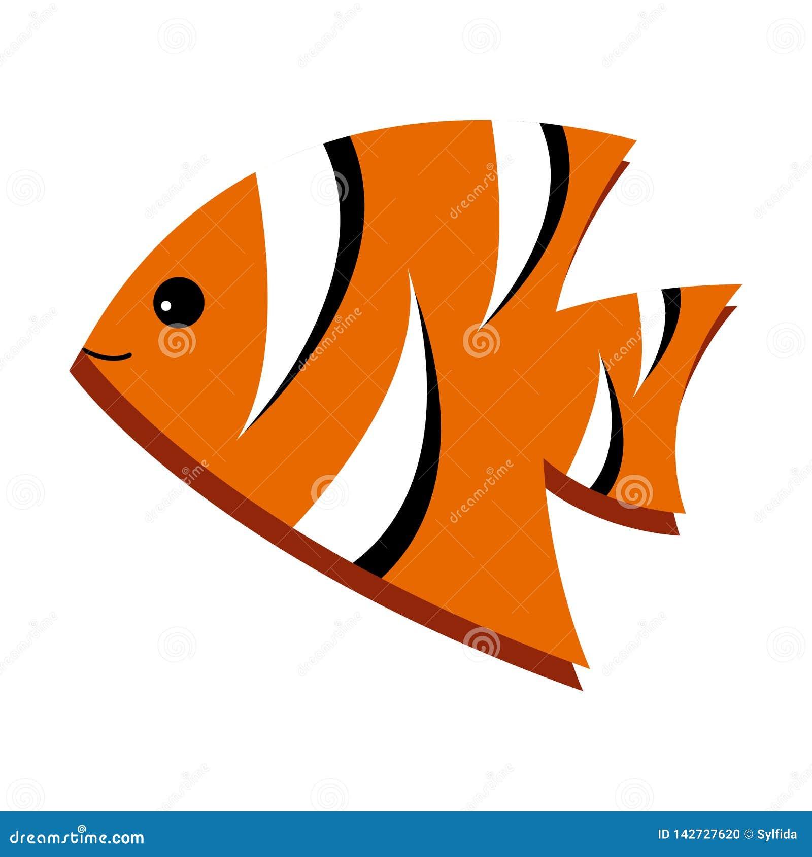 Pescados rayados brillantes Ilustración del vector