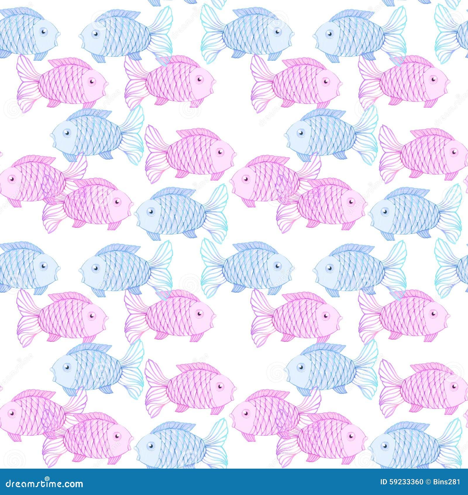 Download Pescados rosados y azules stock de ilustración. Ilustración de fauna - 59233360