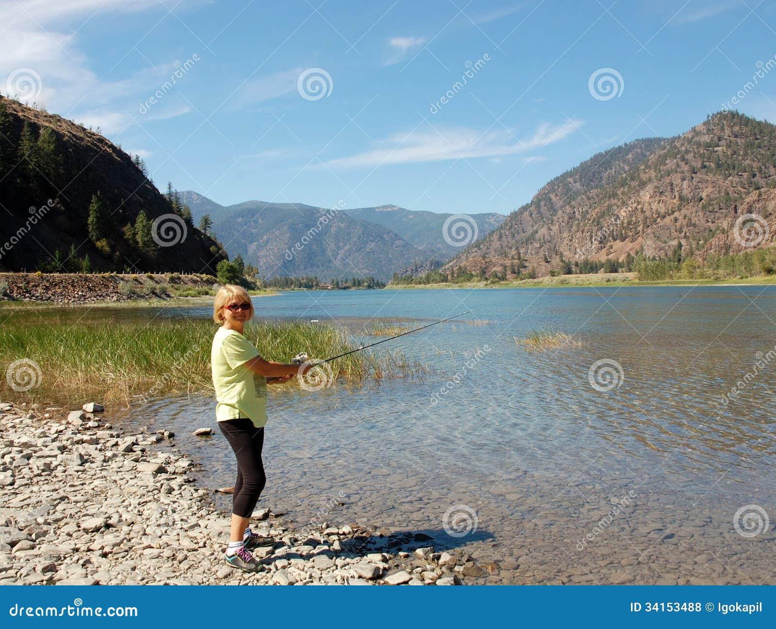 Pescando nel Montana, U.S.A.