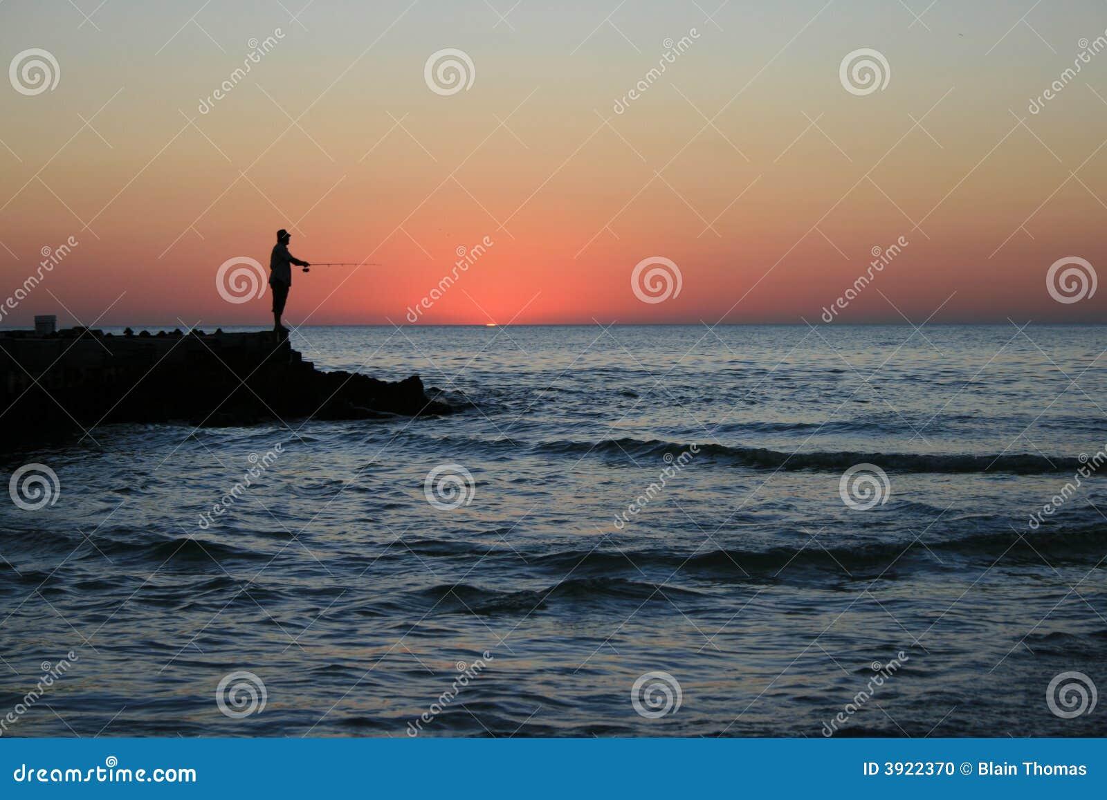 Pescatore di tramonto