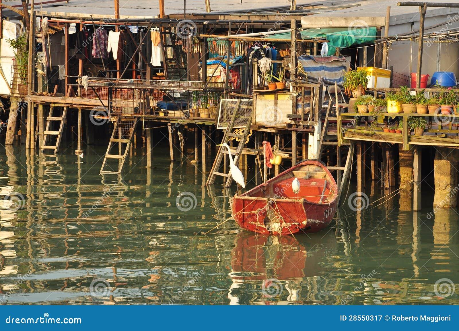 Pescatori villaggio, Hong Kong del Tai O