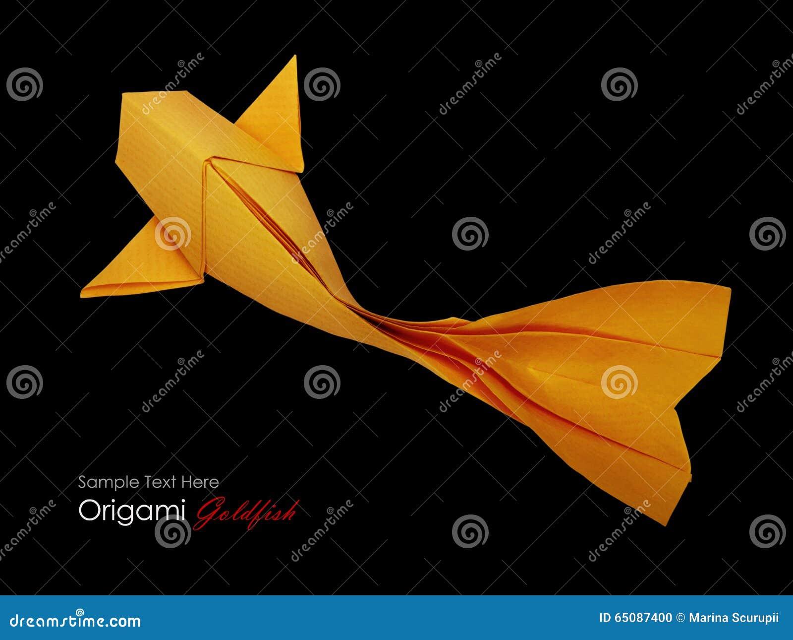 Pesce Della Carta Di Origami Fotografia Stock Immagine Di