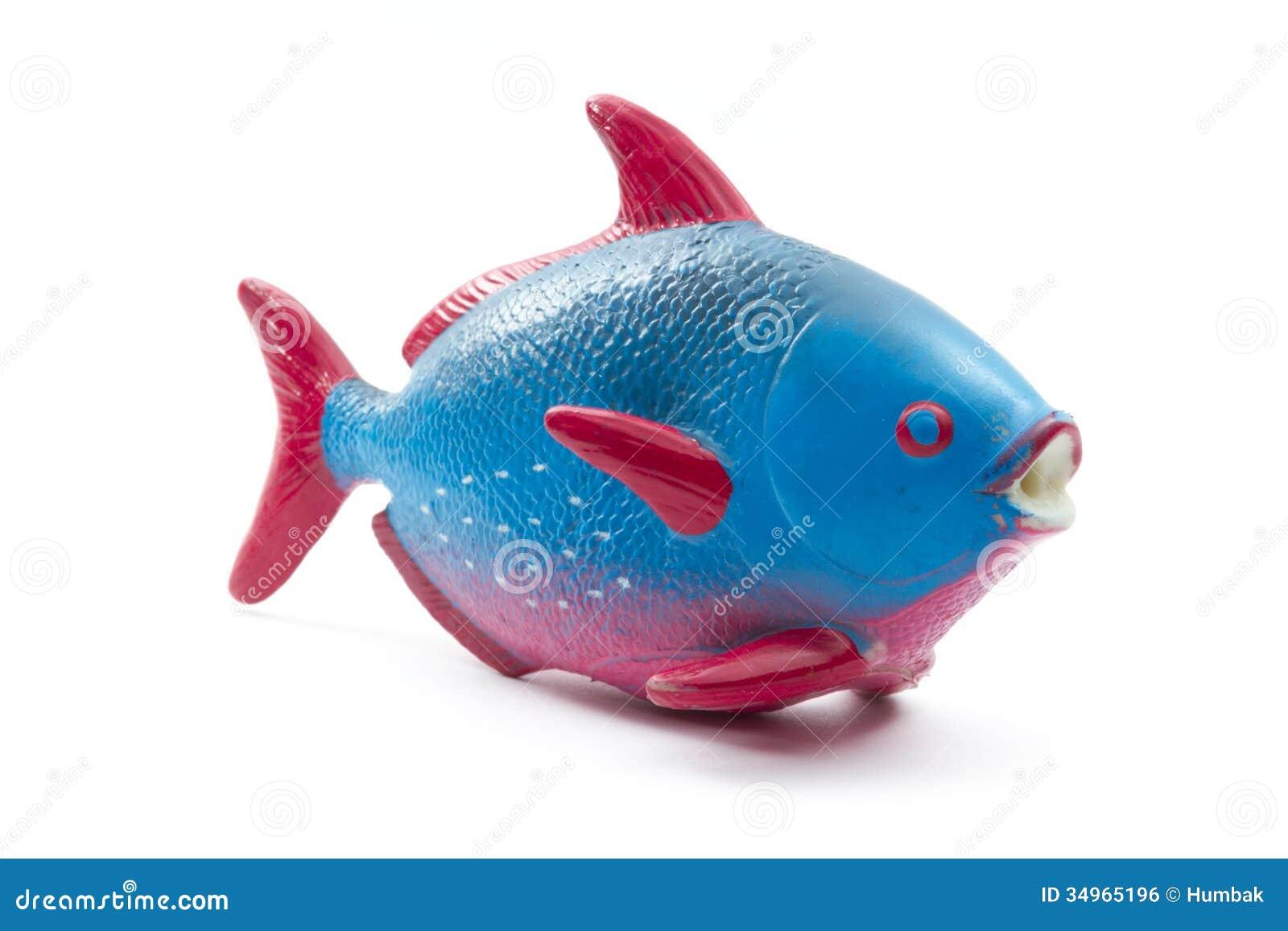 Pesce Di Gomma Del Giocattolo Fotografia Stock - Immagine di