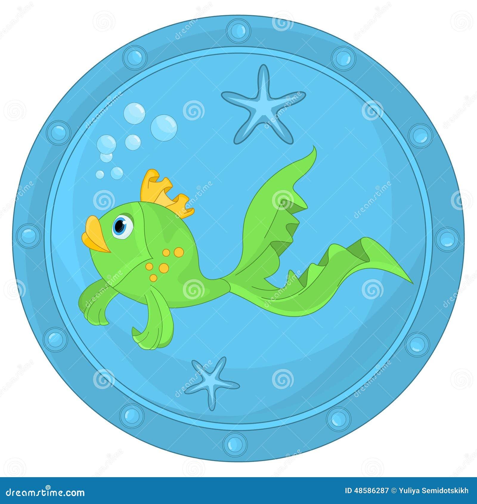 Pesce divertente in oblò