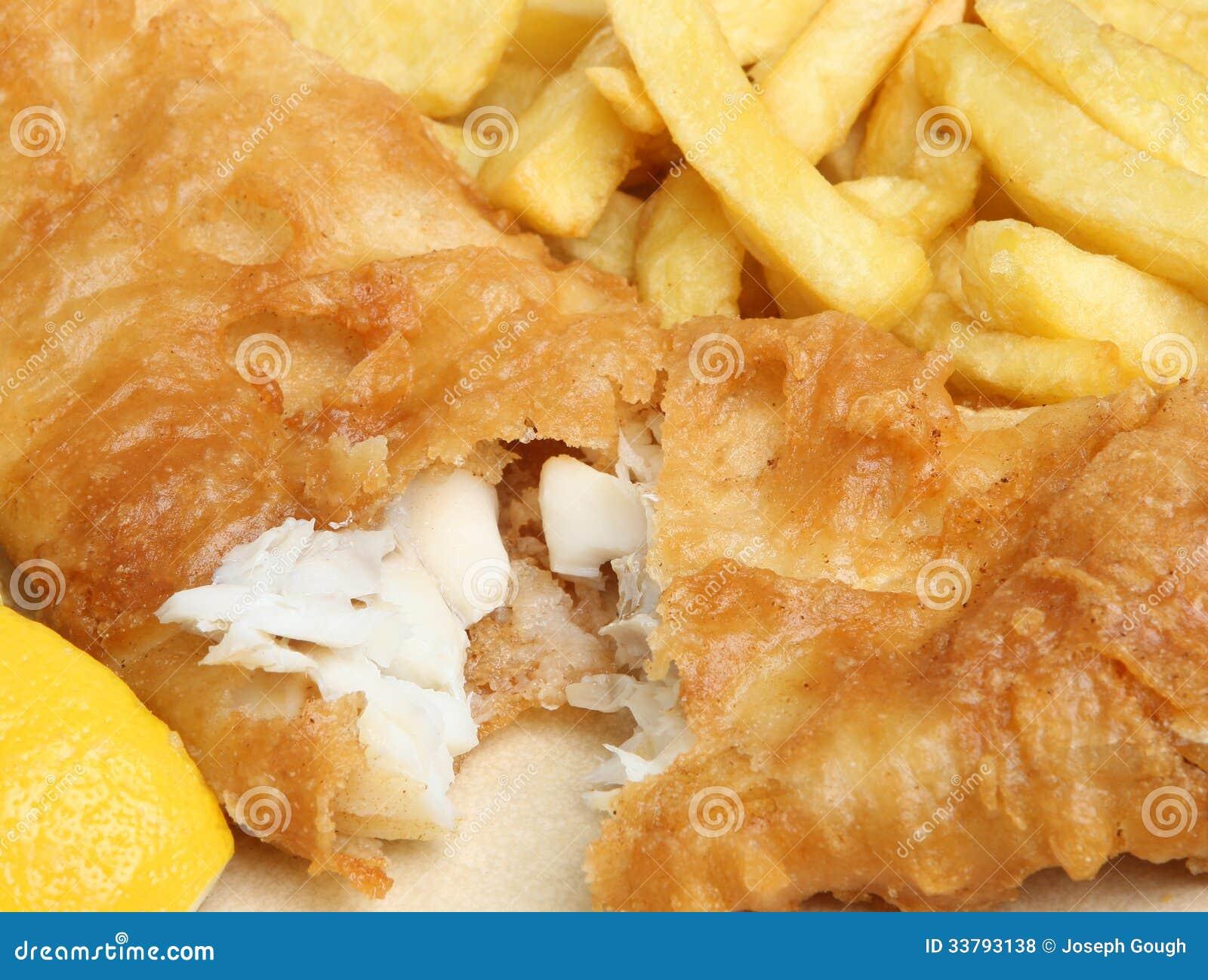Pesce e patate fritte avariato