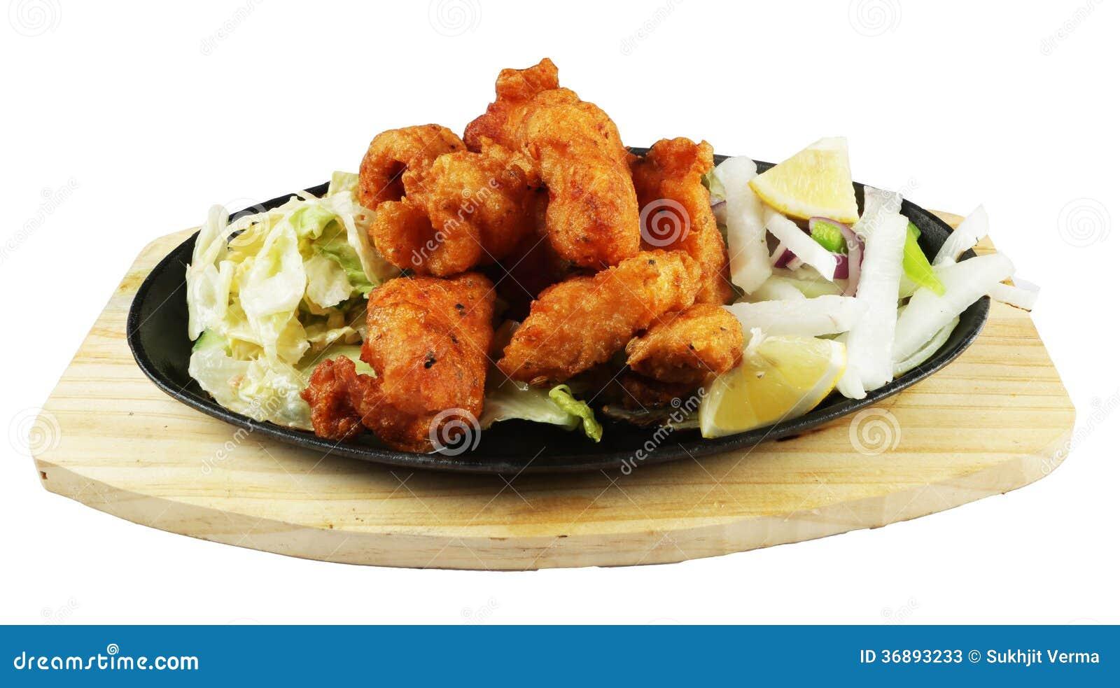 Download Pesce Fritto Di Tandoori Con Insalata Immagine Stock - Immagine di tandoori, punjabi: 36893233