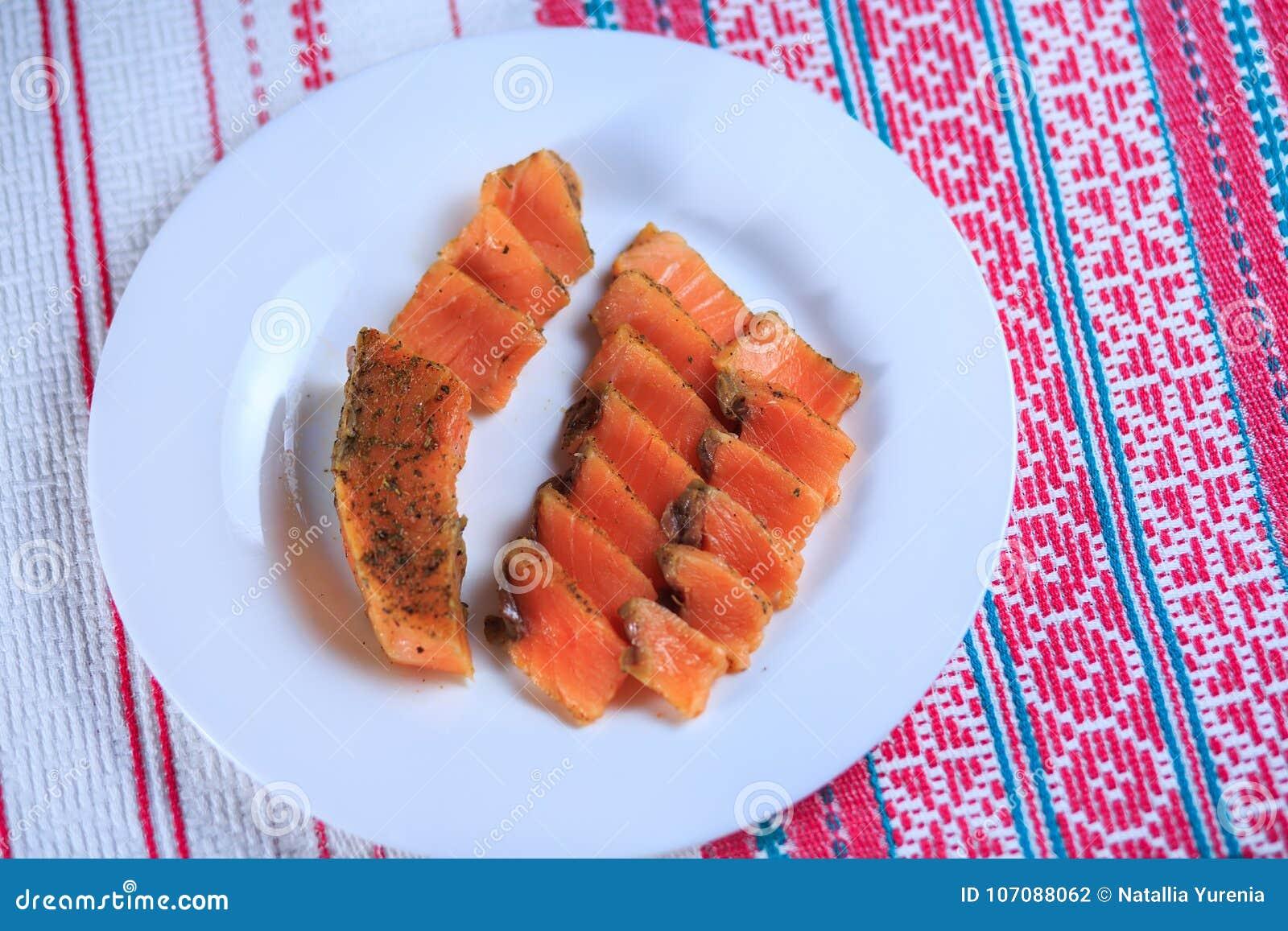 Pesce salato rosso