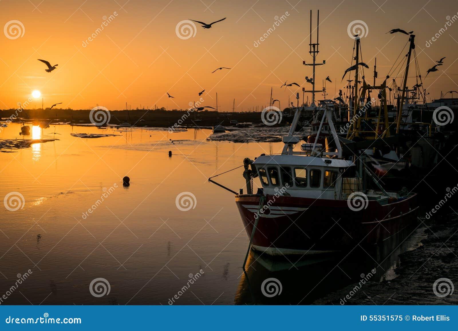 Pescherecci al tramonto