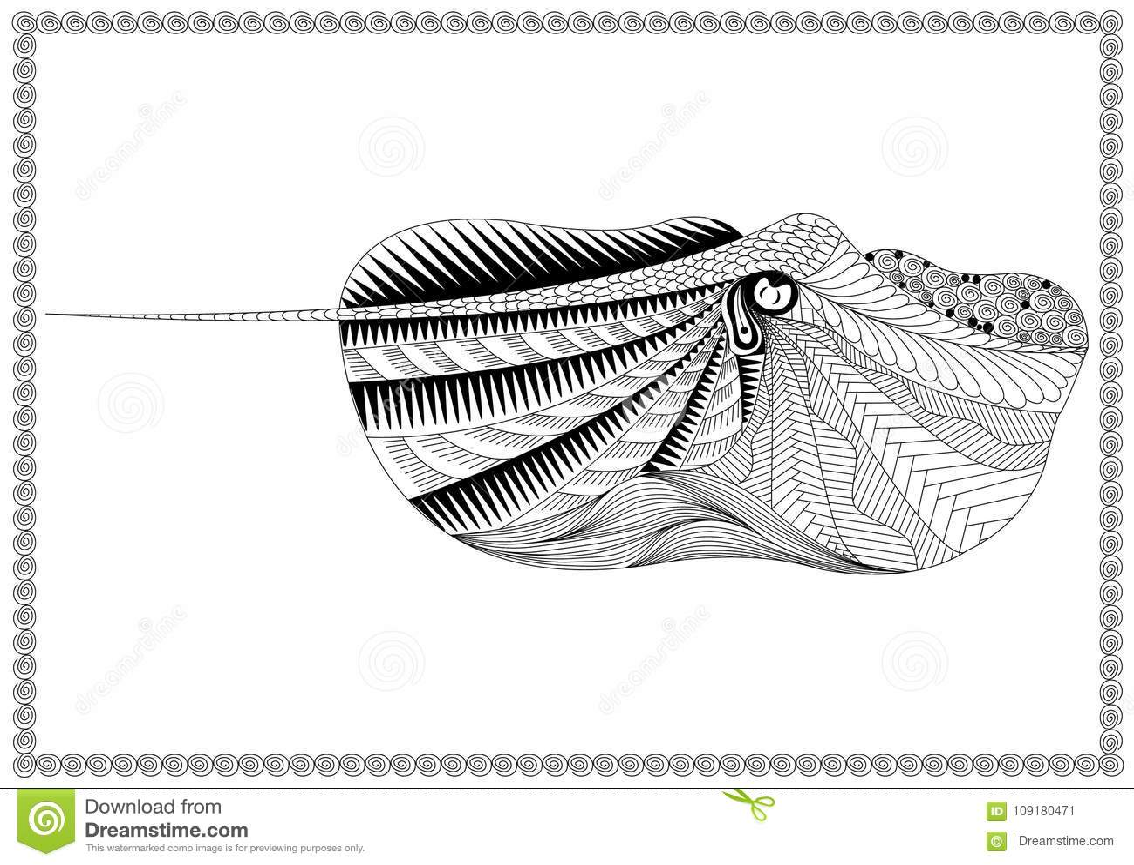 Peschi nell arte di stile di zen su fondo bianco, rampa