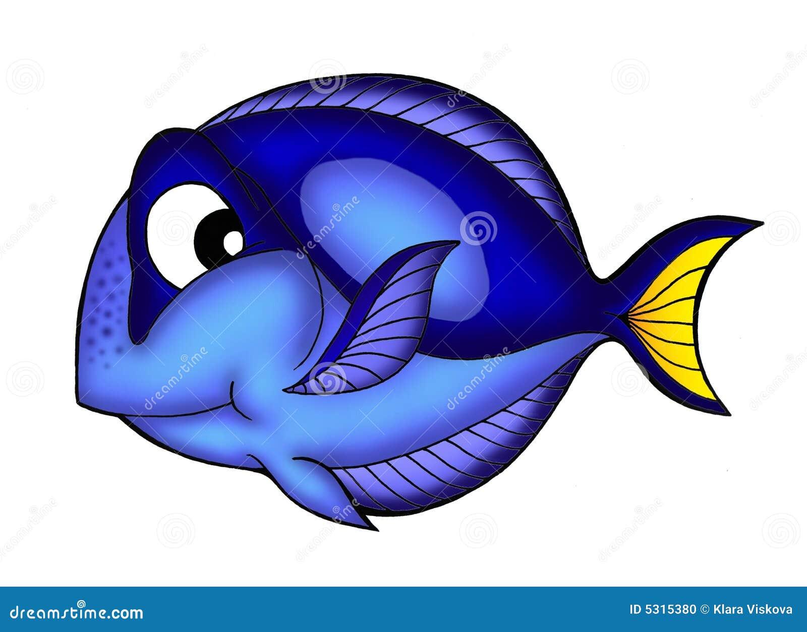 Download Pesci blu di linguetta illustrazione di stock. Illustrazione di mare - 5315380