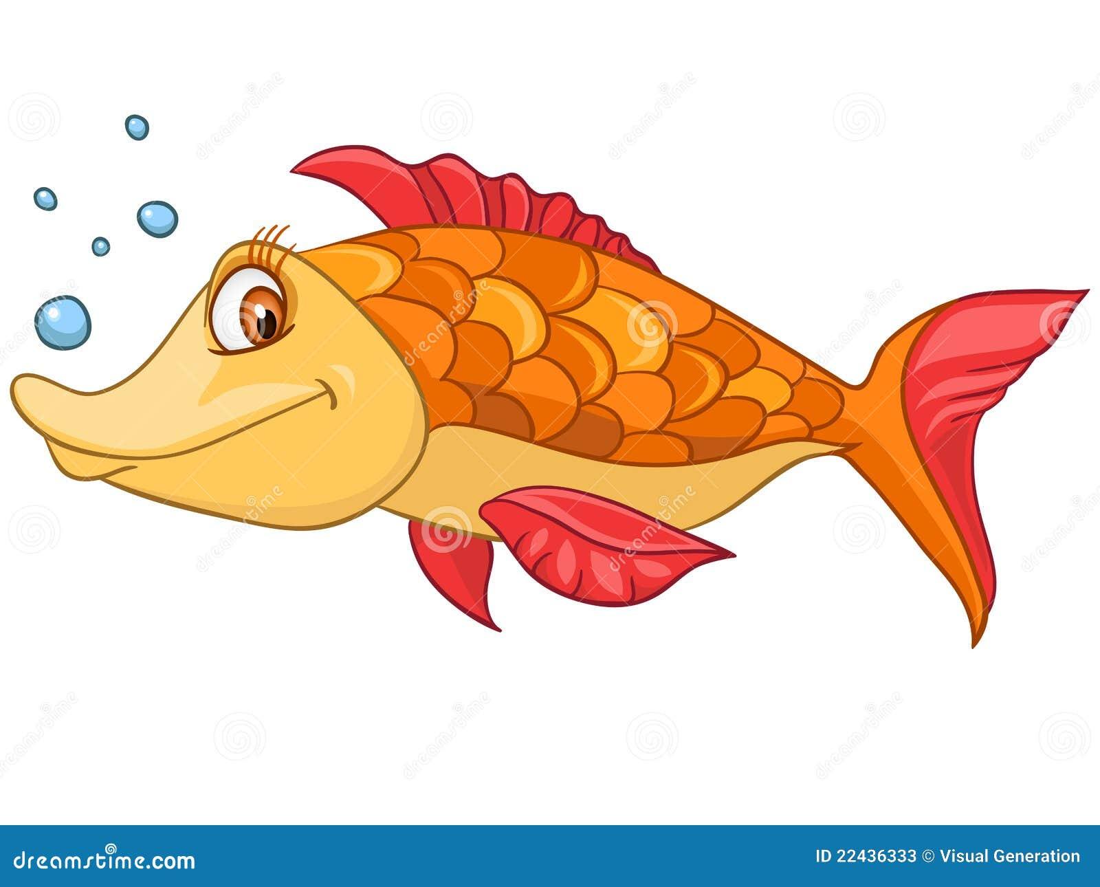 Pesci del personaggio dei cartoni animati illustrazione for Sfondi animati pesci