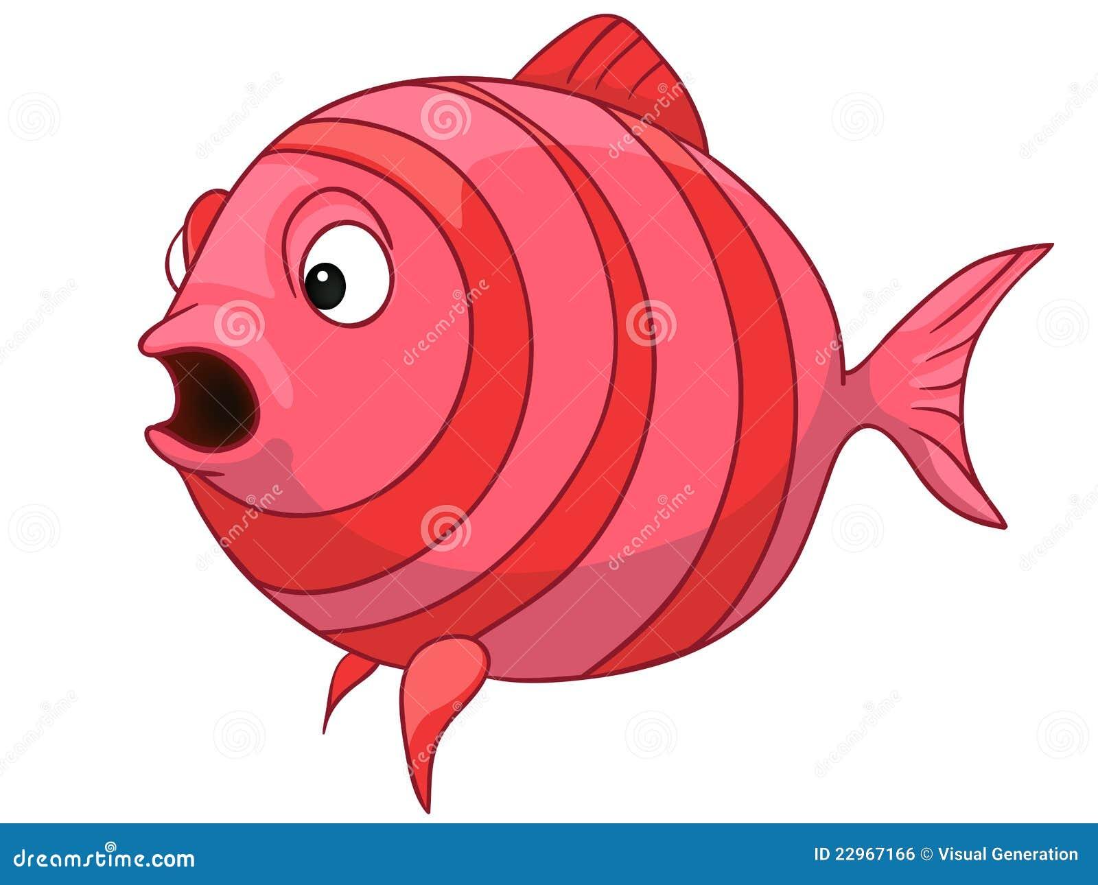 Pesci del personaggio dei cartoni animati illustrazione