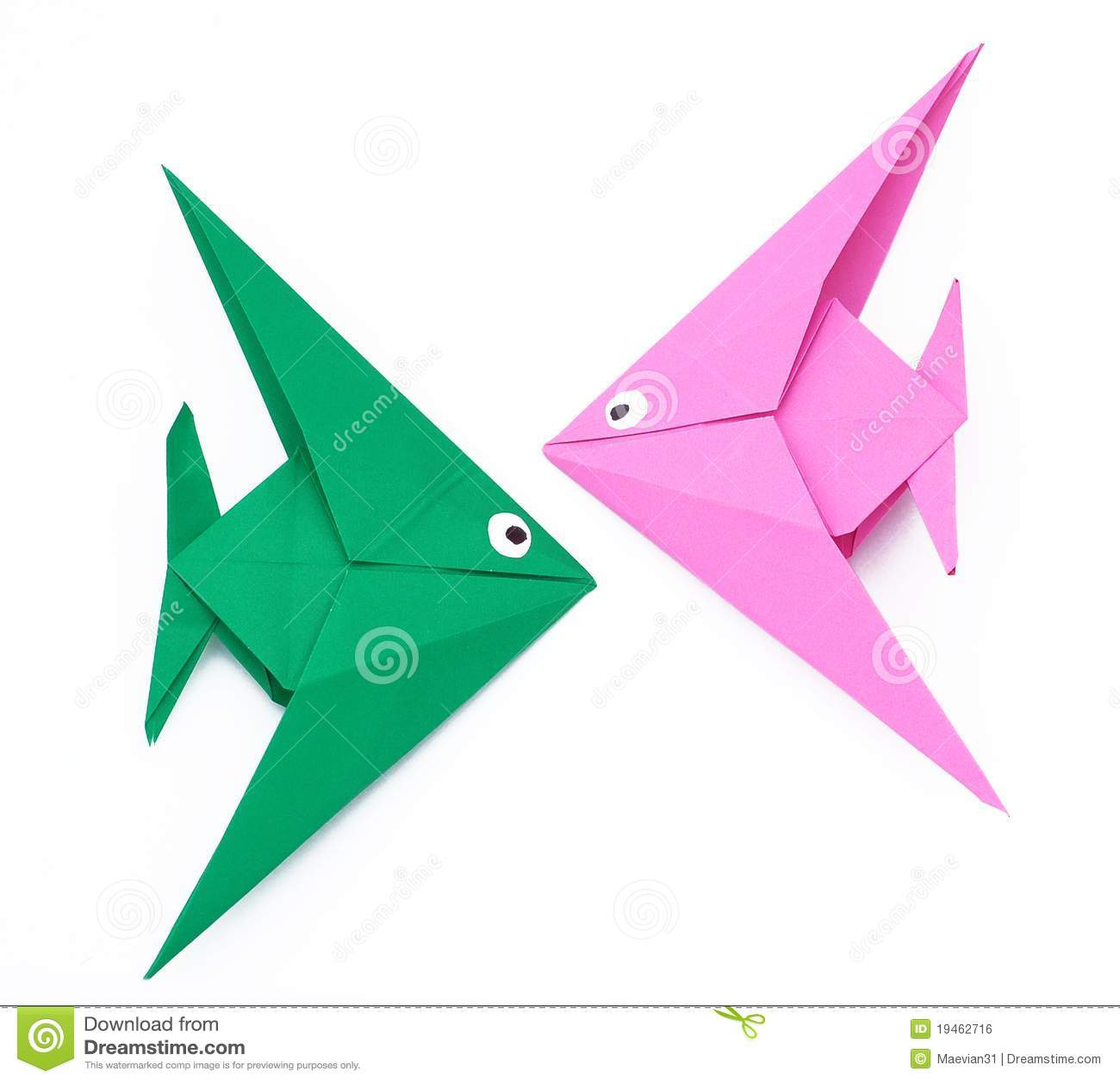 Pesci Di Carta Di Origami Fotografia Stock Immagine Di Pesci 19462716