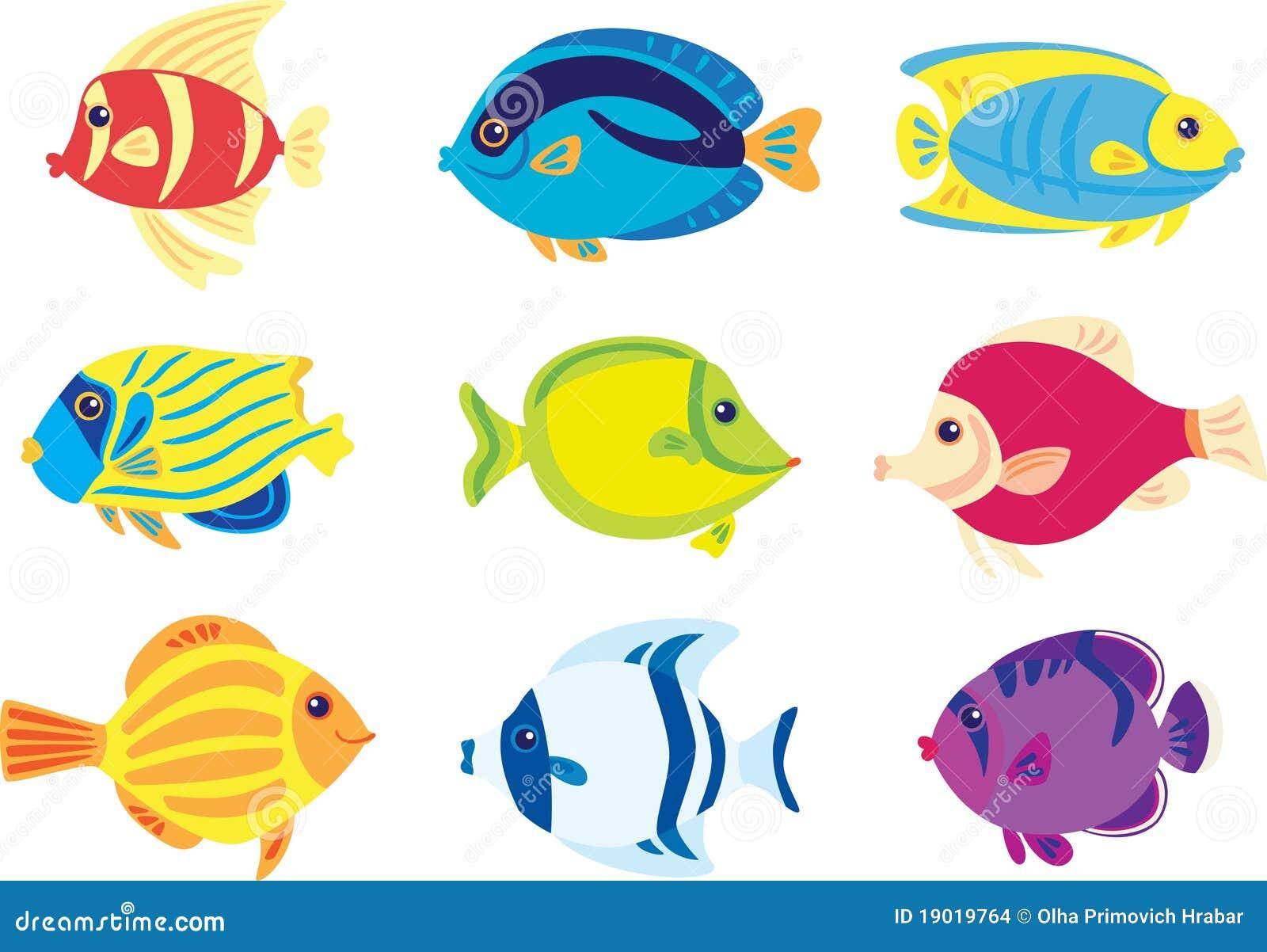 Pesci tropicali immagini stock immagine 19019764 for Immagini da colorare di pesci