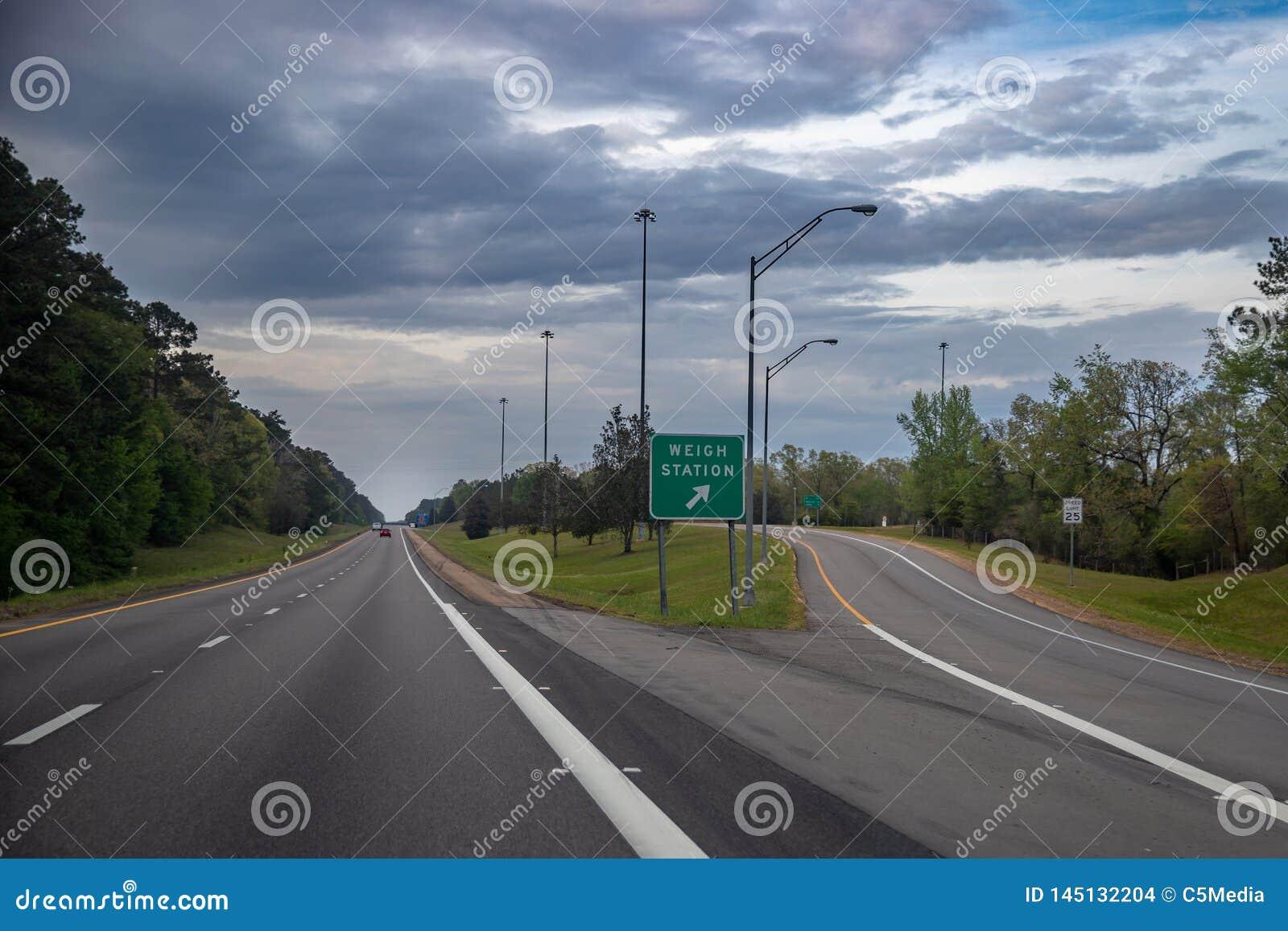 Pese o sinal da estação no de um estado a outro