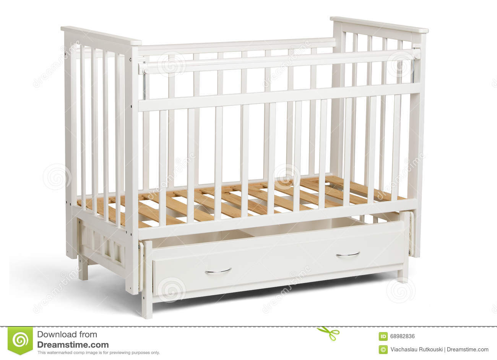 Pesebre blanco para los niños sin el colchón