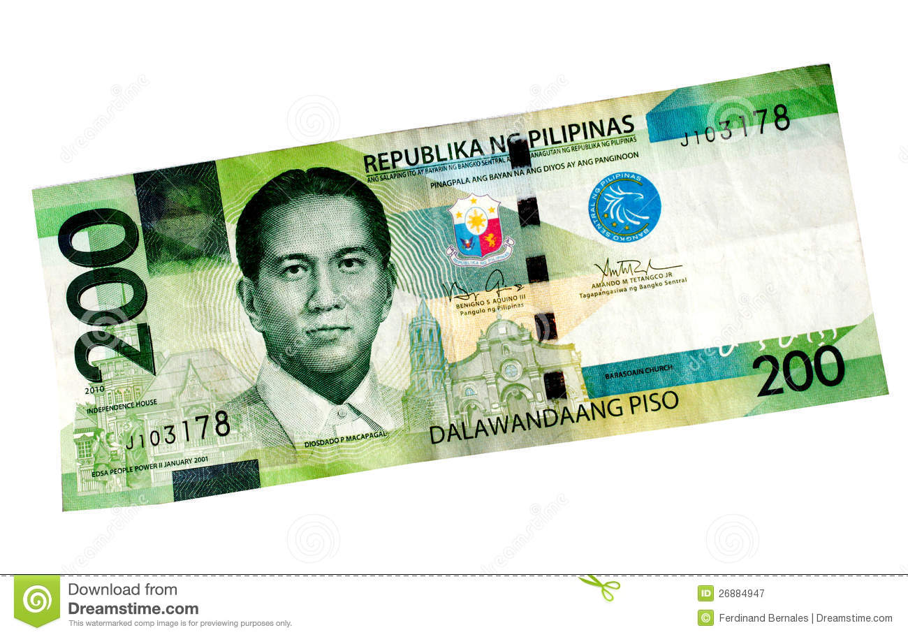 Peso Bill stock image. Image of treasury, payment, green ...
