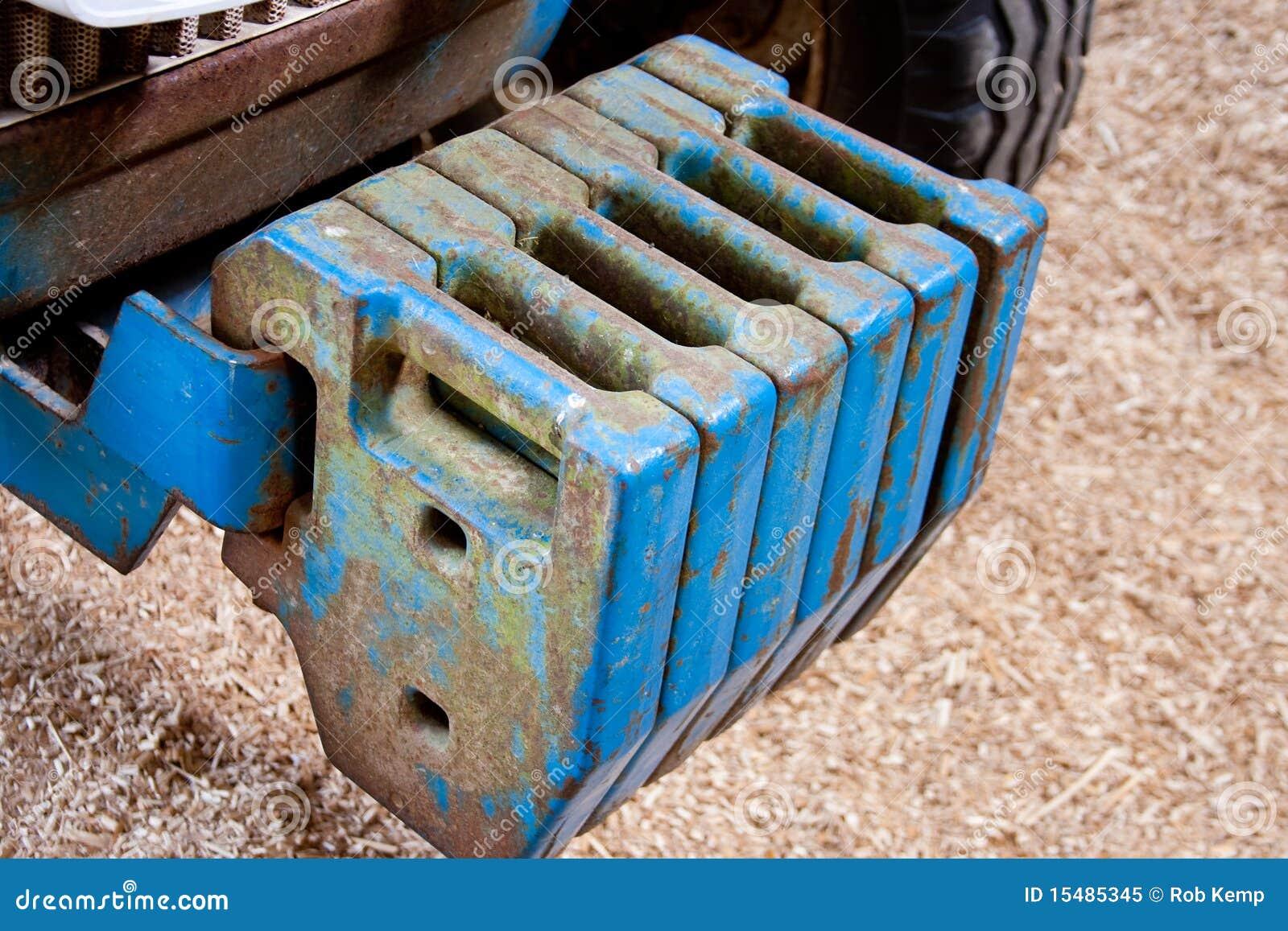 Peso Di Equilibrio Del Trattore Di Agricoltura Fotografia