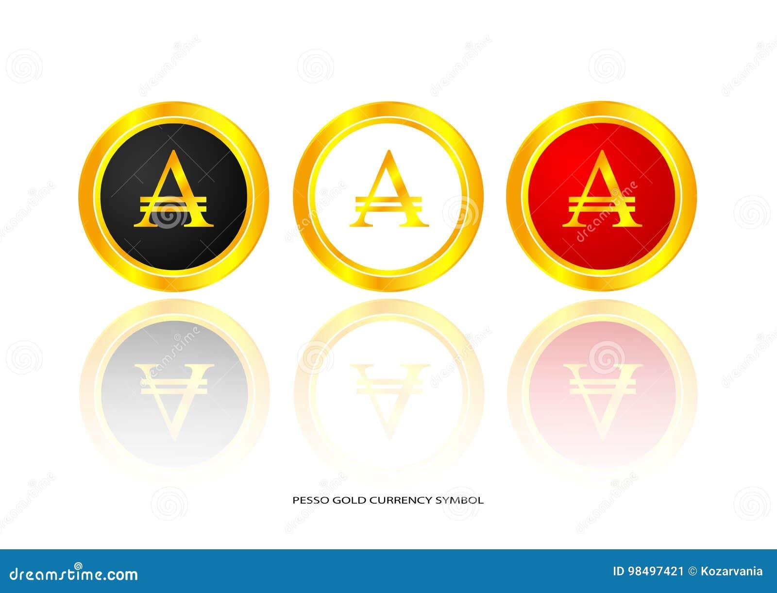 Peso Gold Symbol Stock Vector Illustration Of Brilliant 98497421