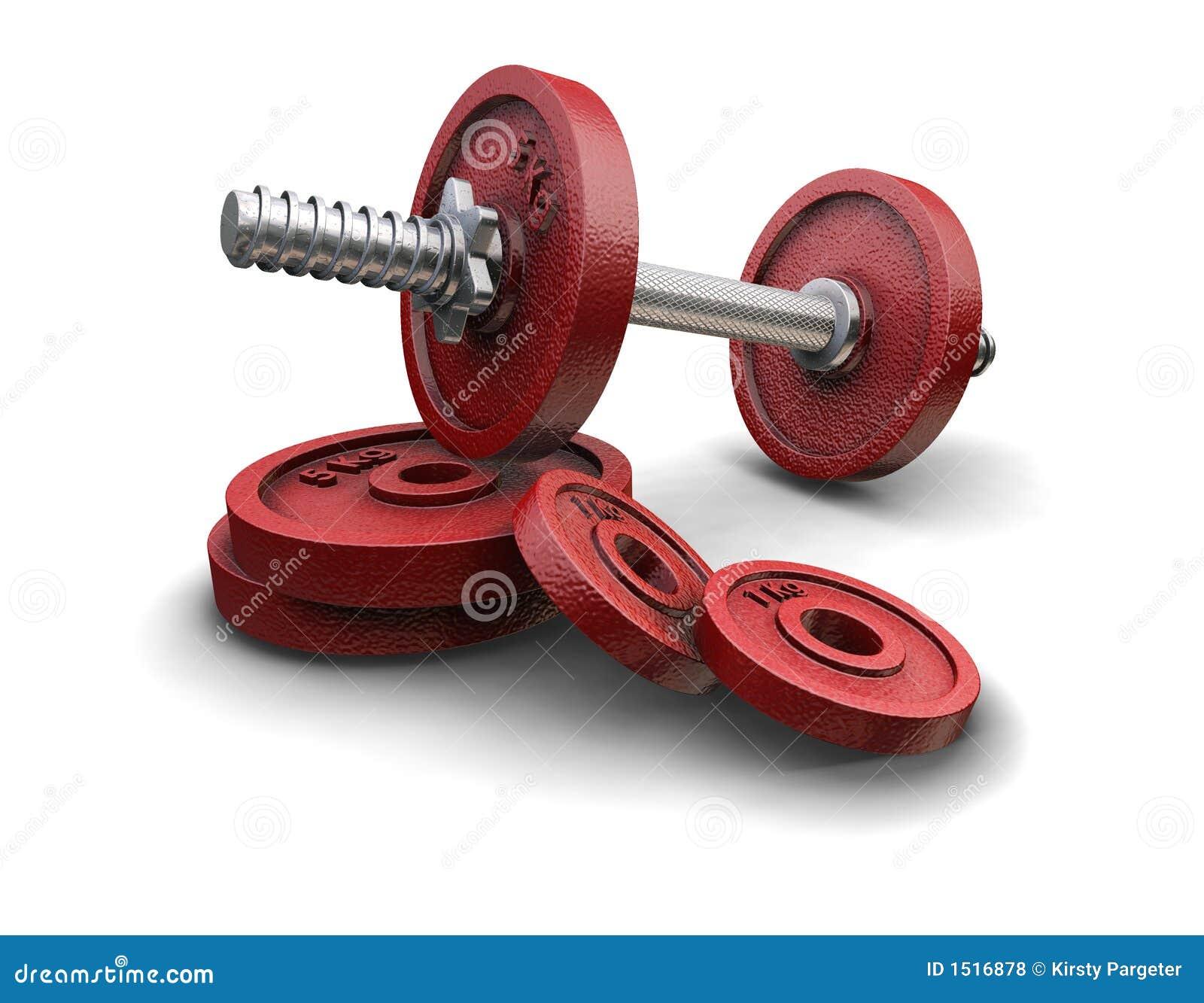 Pesos del levantamiento de pesas