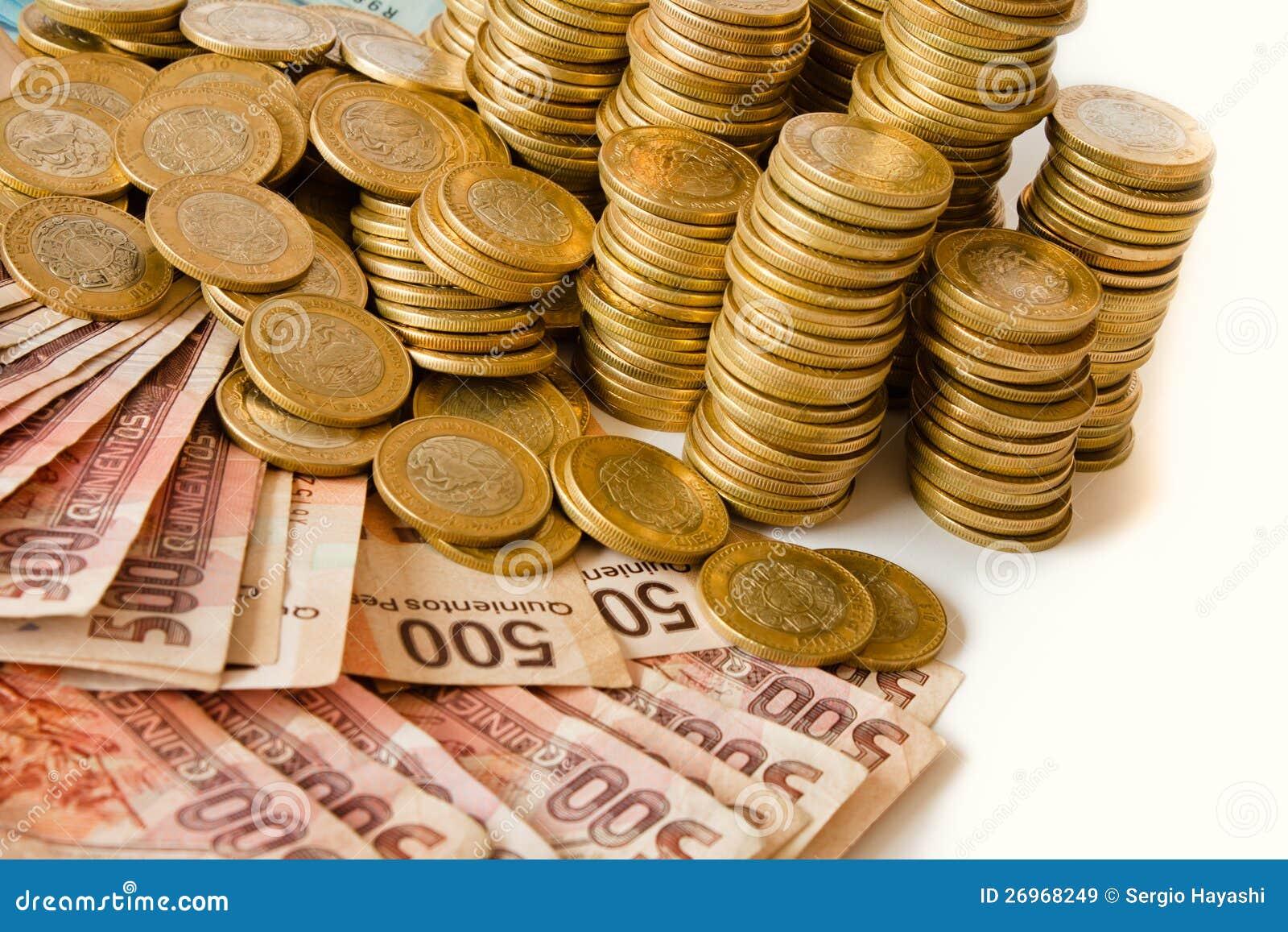 Pesos Mexicanos Imagen De Archivo Imagen De Mercado 26968249