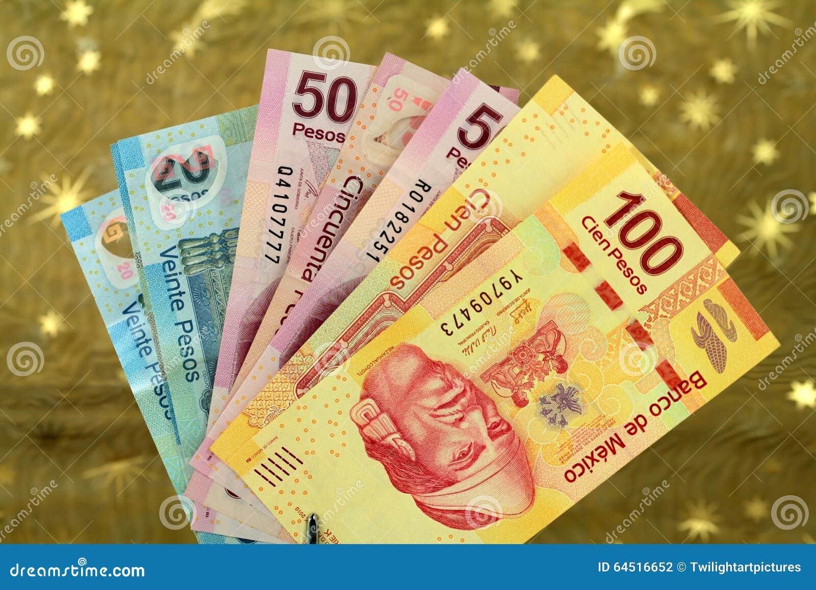 Pesos Mexicanos De Latinoamericano Foto De Archivo Imagen De