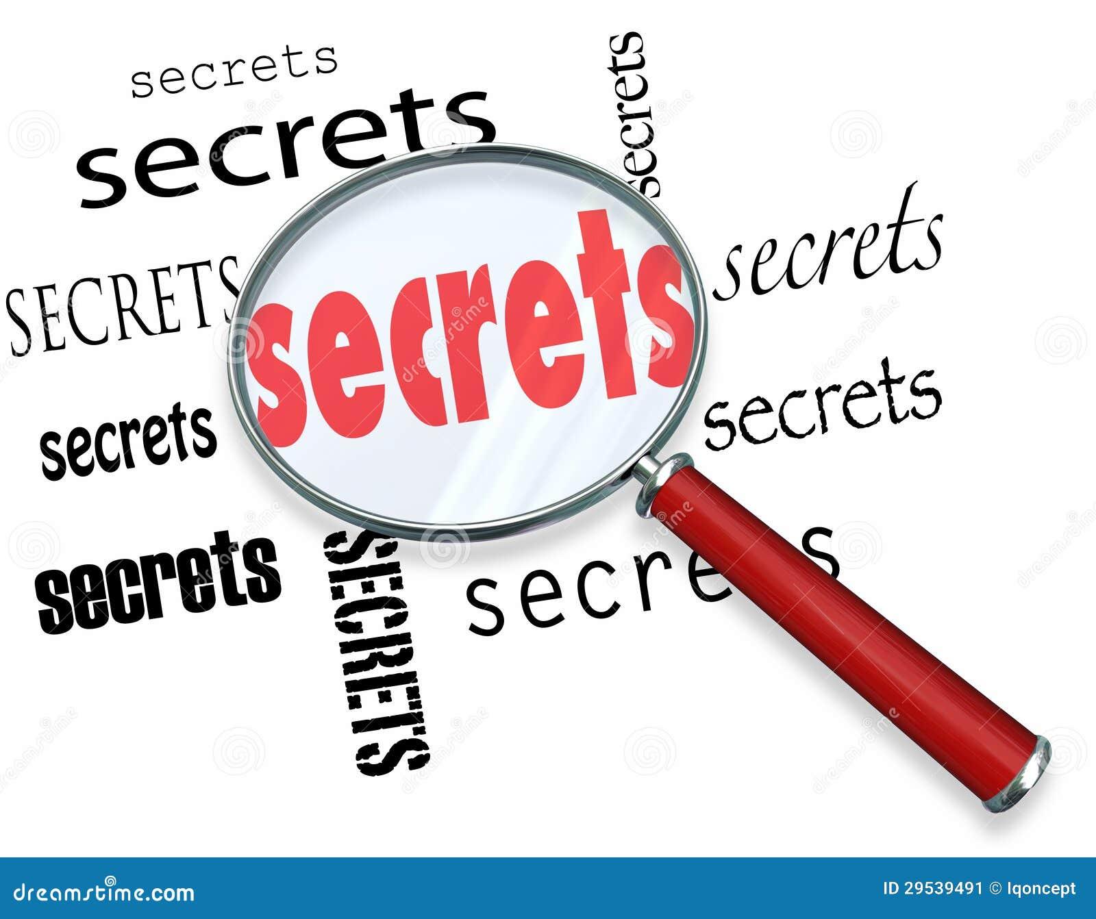 Pesquisa por segredos - a lupa encontra indícios