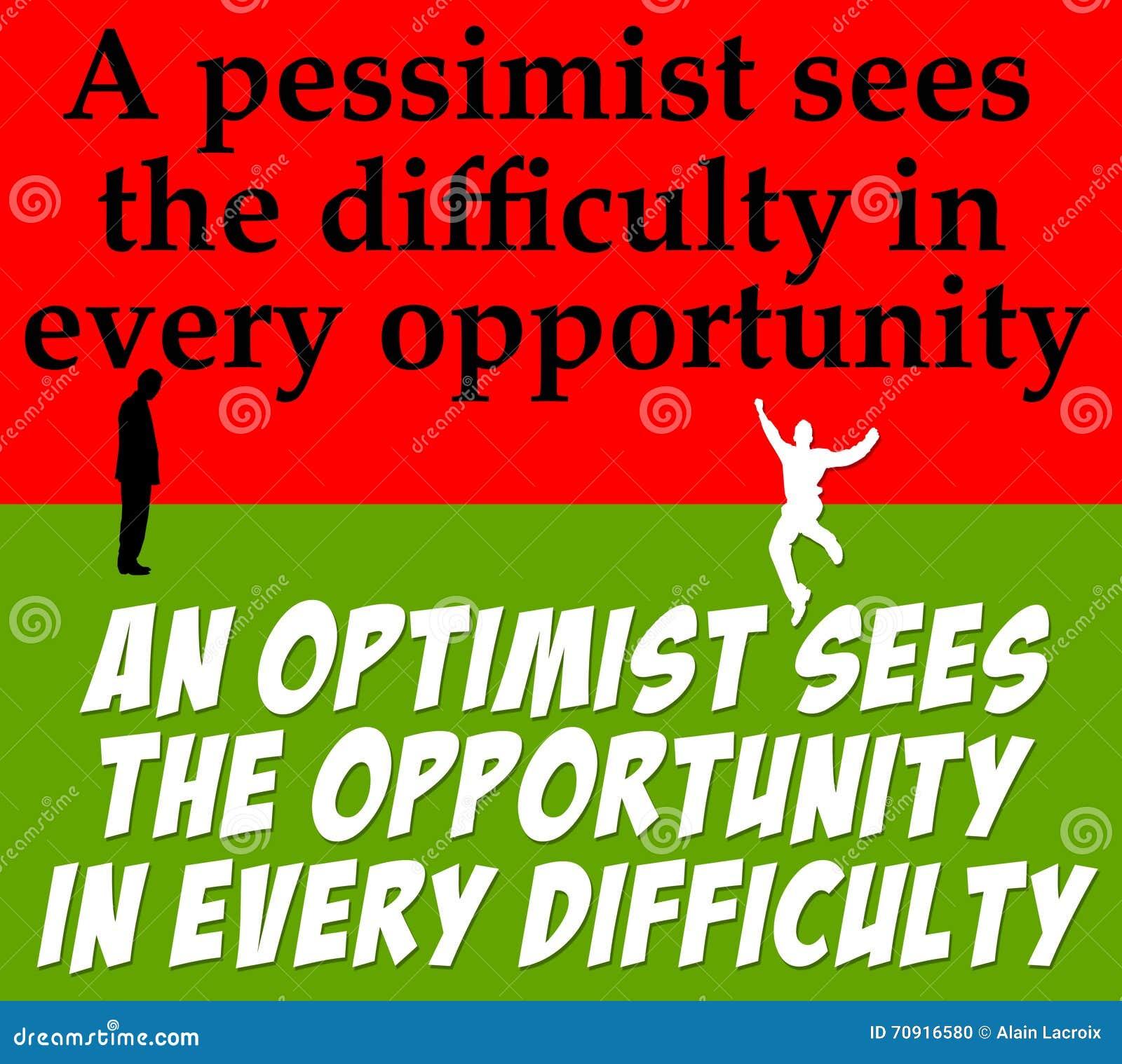 Pessimisme d optimisme