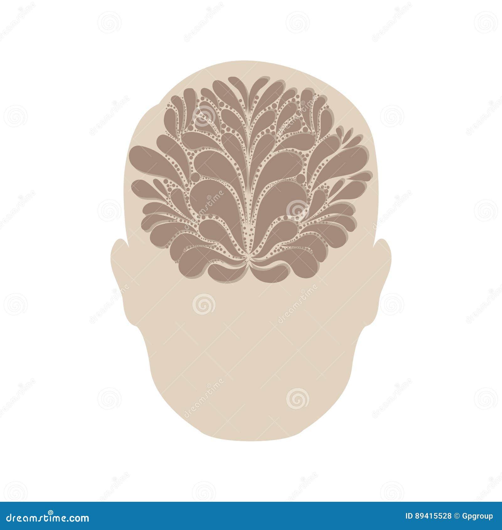 Pessoa com ícone da ideia do cérebro