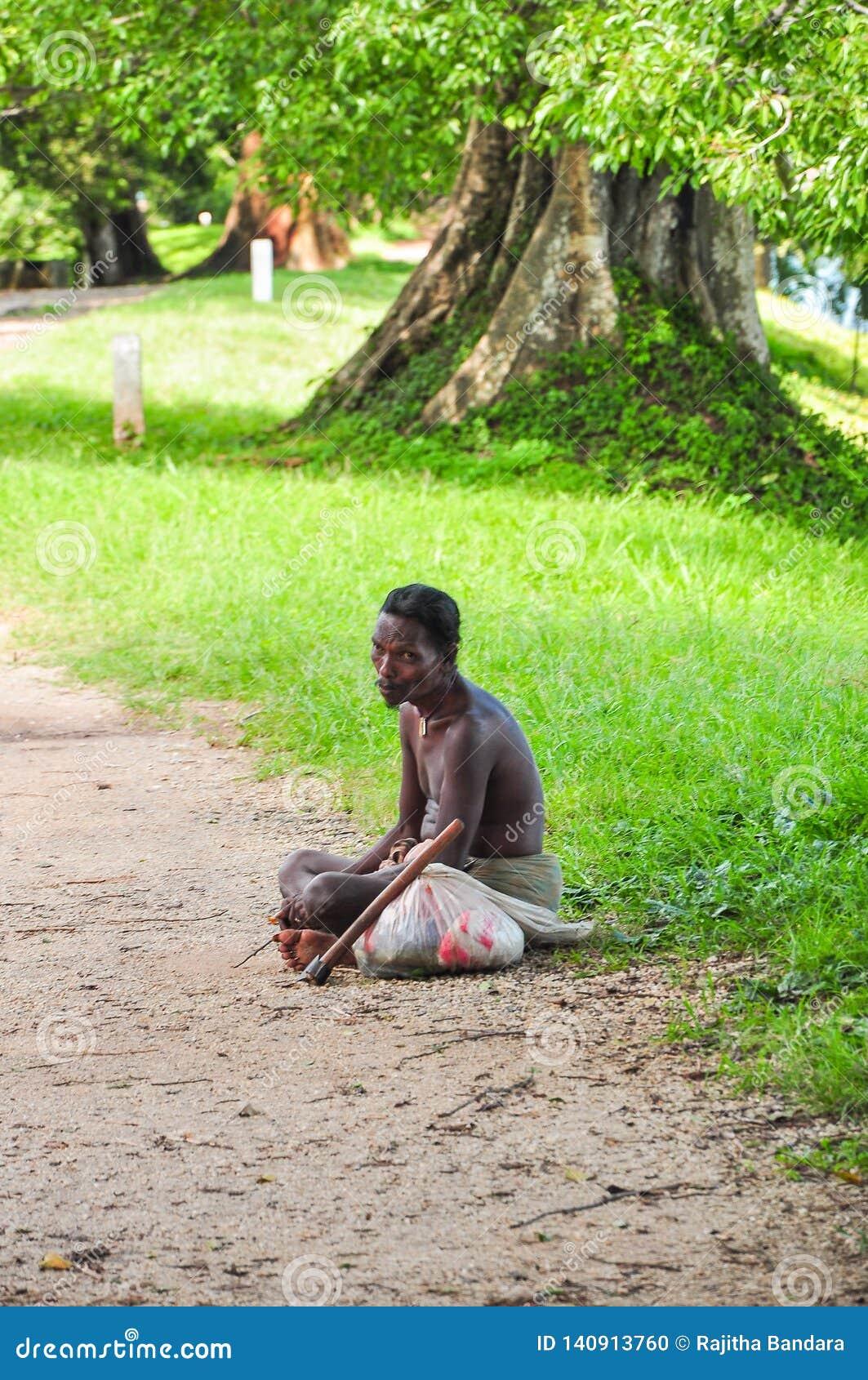 Pessoa tradicional em Sri Lanka