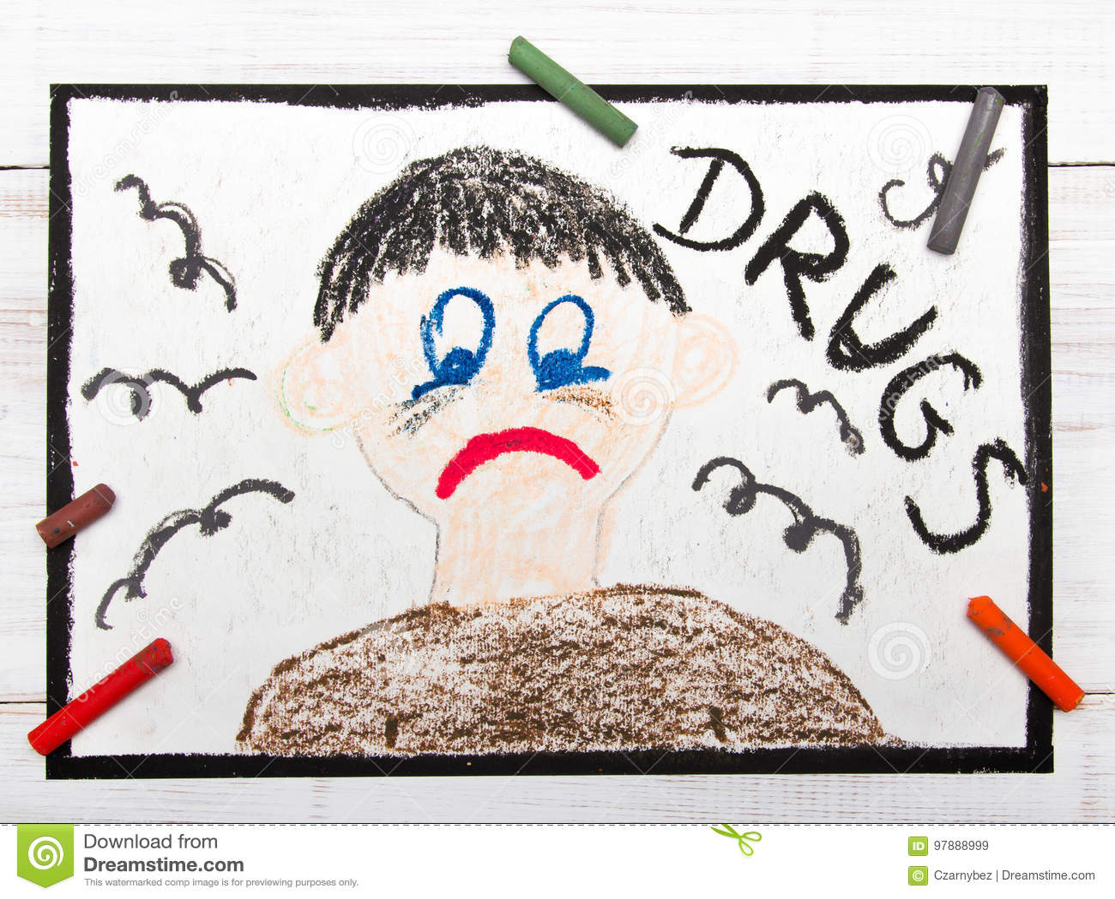 Pessoa viciado da droga Homem triste e deprimido