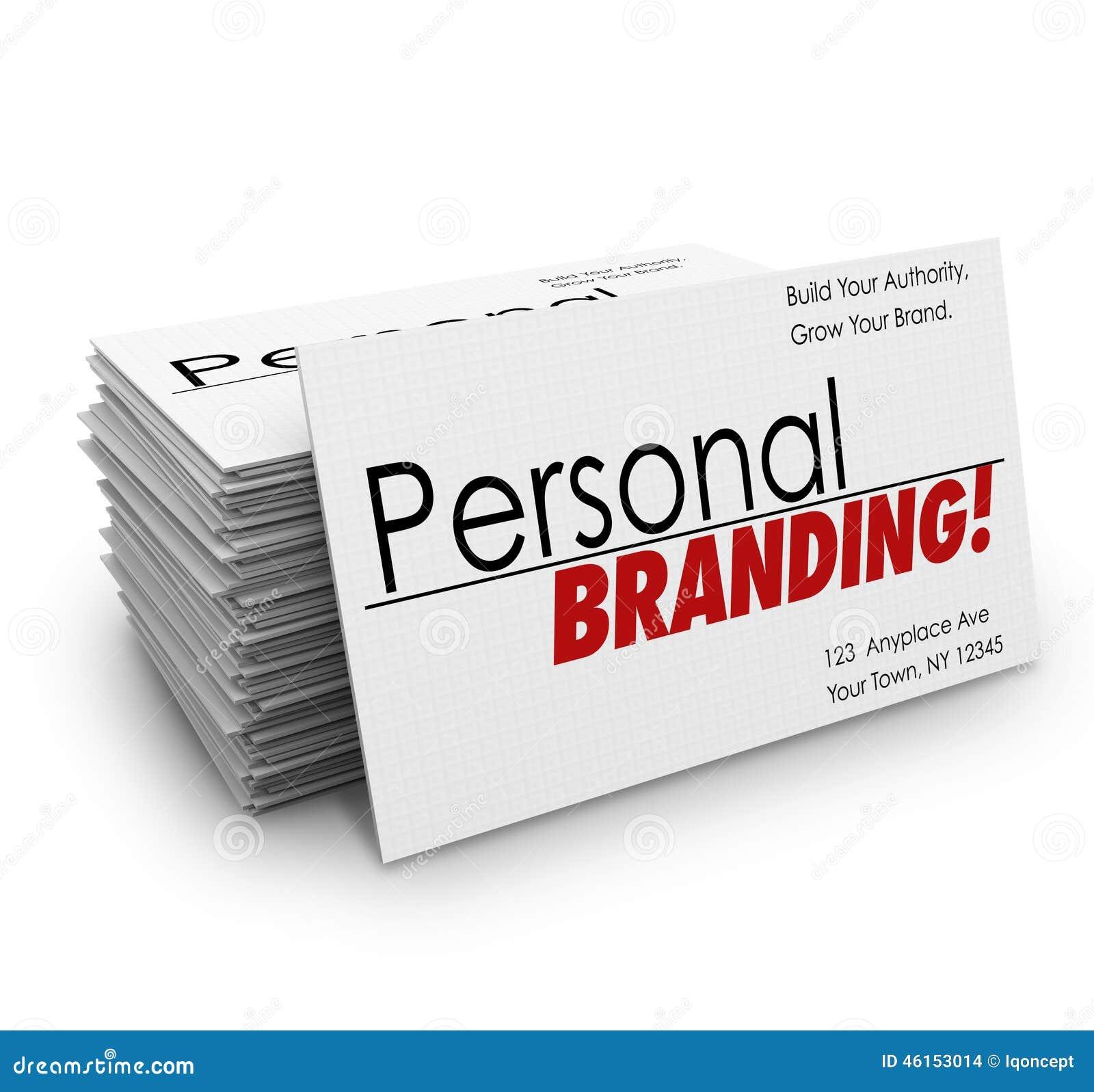 Pessoal Branding Cartões Anúncios Serviços Empresa