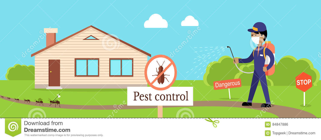 Pest Control Banner stock vector. Illustration of insect - 84847886