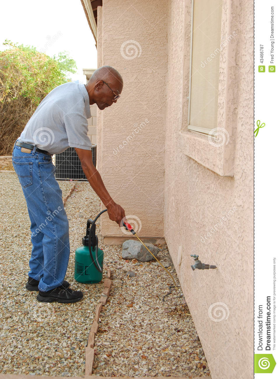 Do It Yourself Home Design: Pest Control Stock Image. Image Of American, Home, Senior