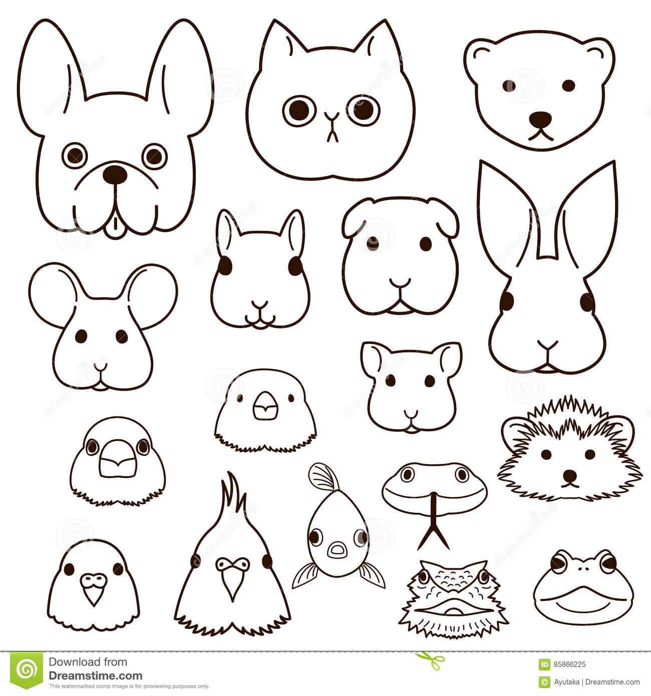 Line Drawings Of Cute Animals : Hamsters cartoons illustrations vector stock images