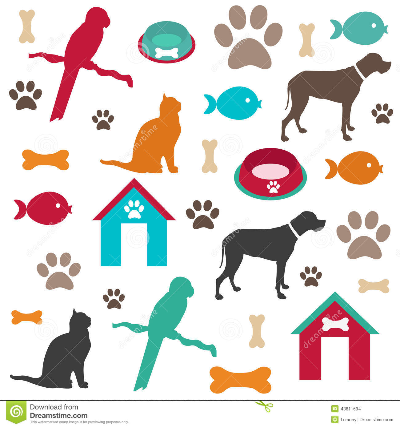Pet Background Stock Vector Image Of Kennel Seamless
