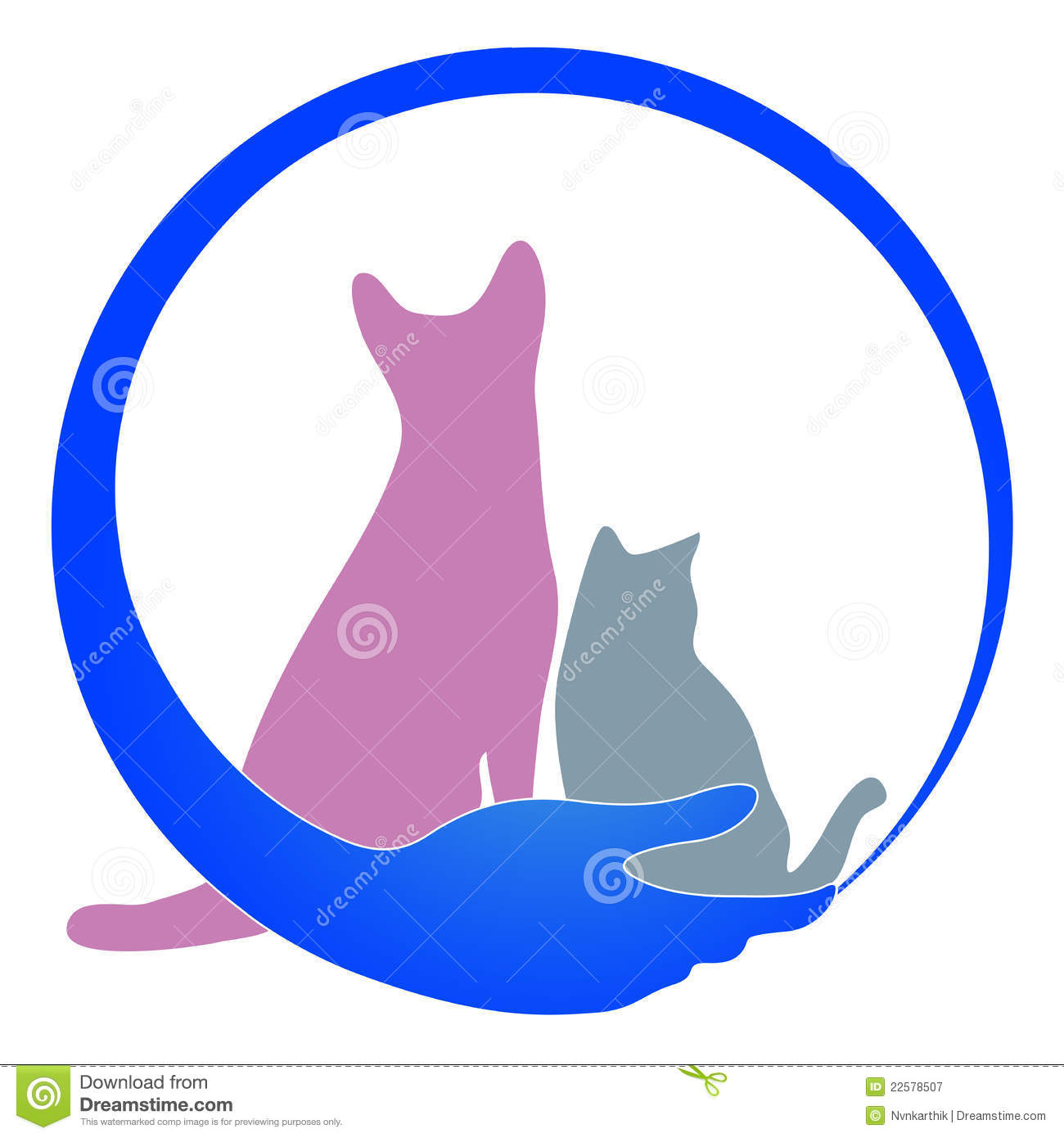 pet care logo stock vector image of icon friendship